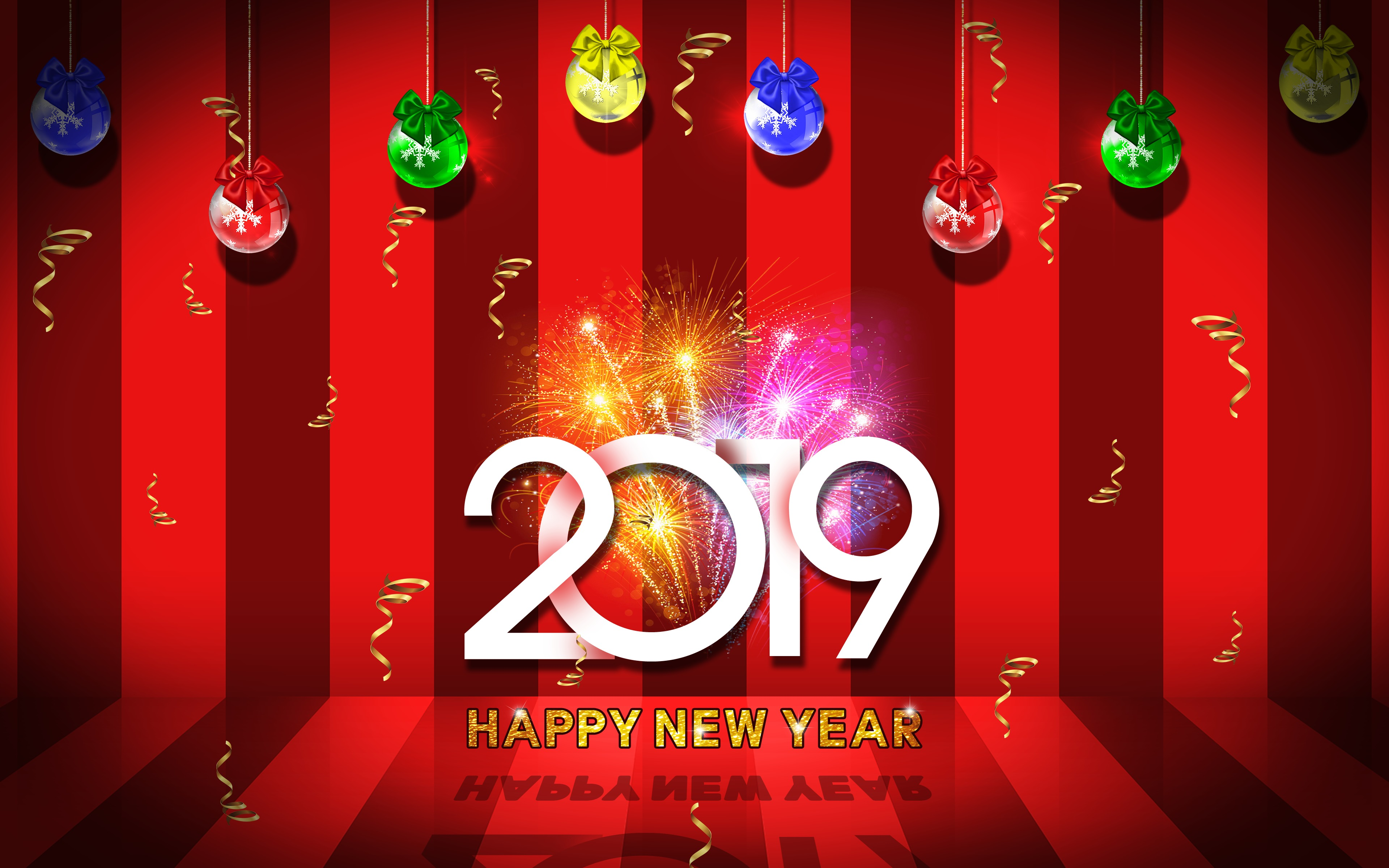 2019 Happy New Year Wallpaper, HD Holidays 4K Wallpapers, Images