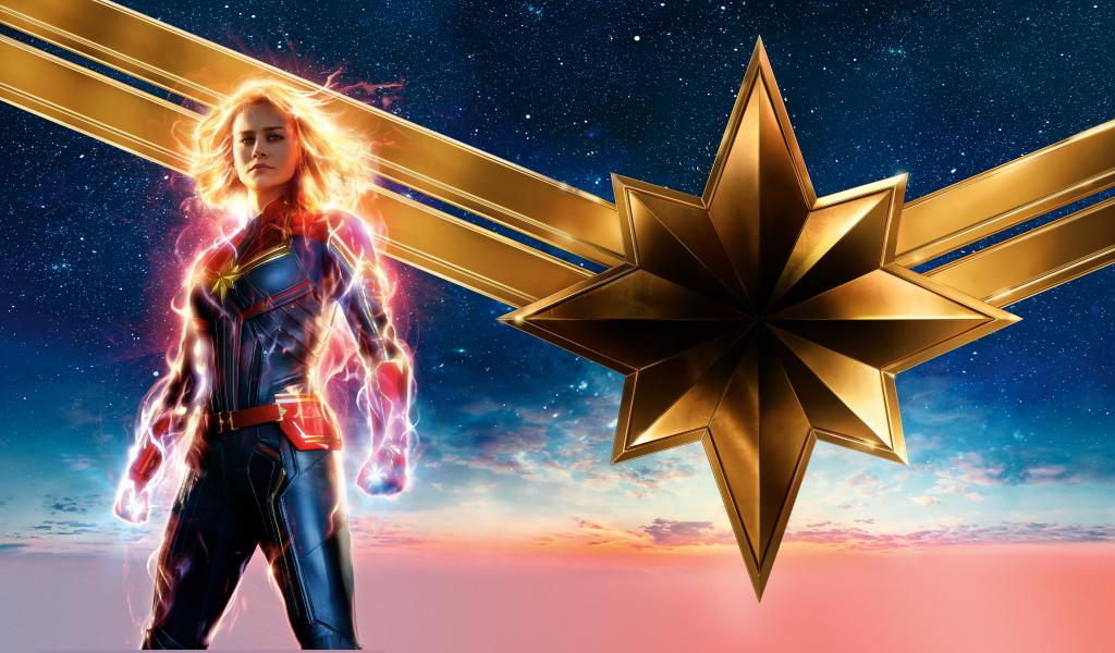 1024x600 2019 New Captain Marvel Poster 1024x600 ...
