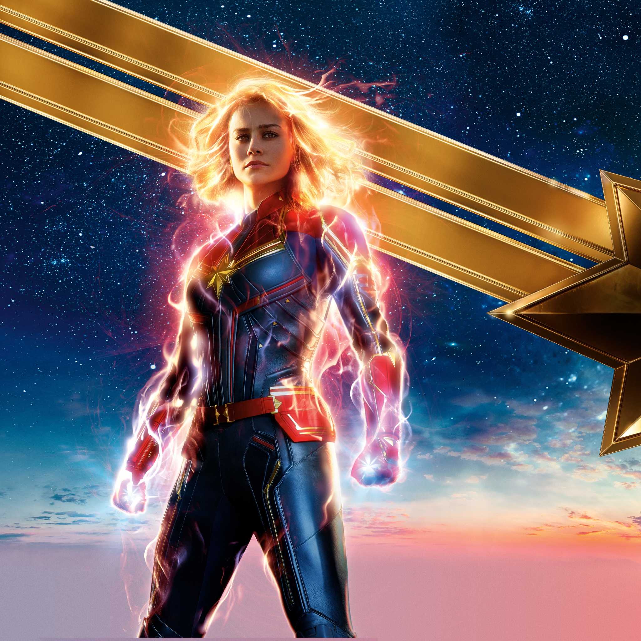 2048x2048 2019 New Captain Marvel Poster Ipad Air