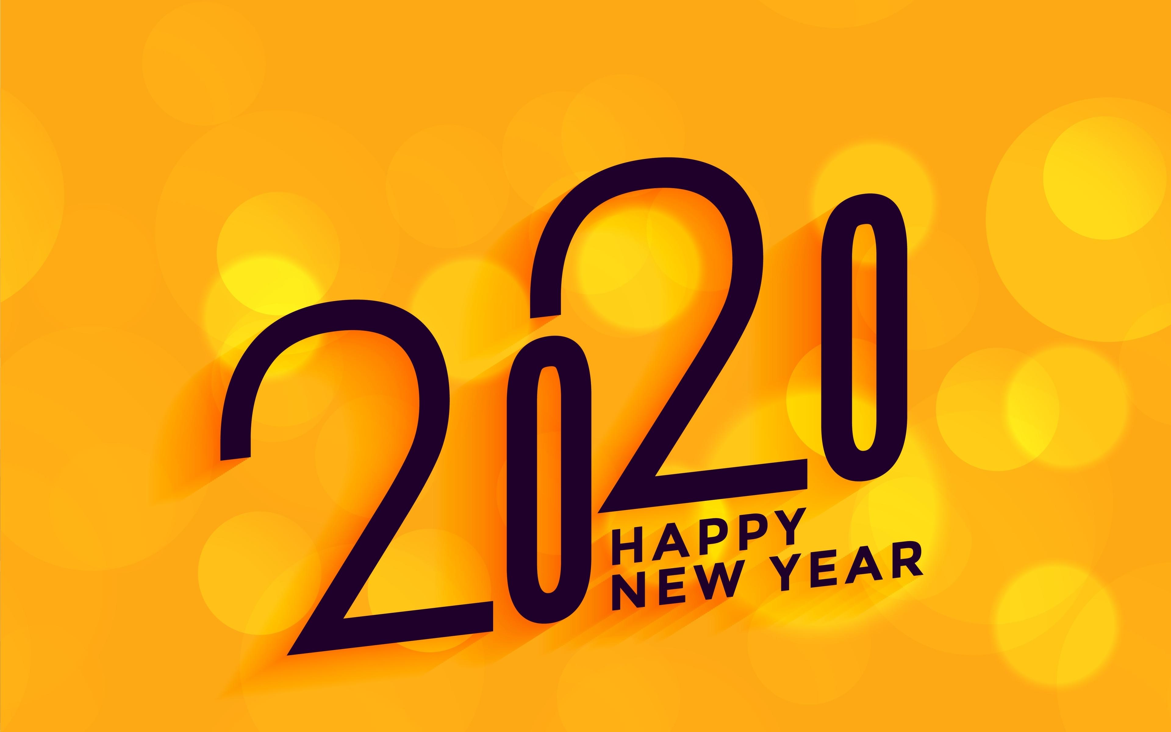 3840x2400 2020 New Year 4k 3840x2400 Resolution Wallpaper