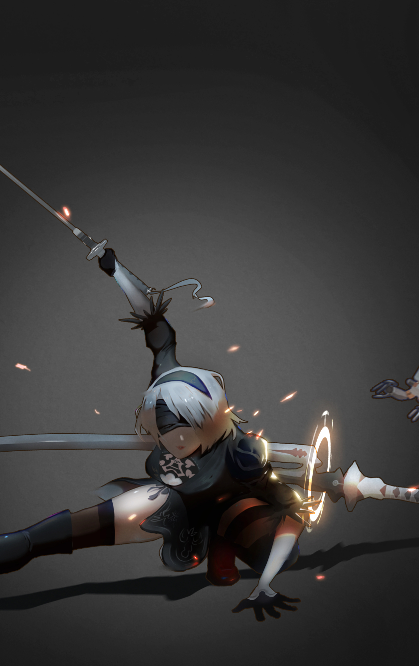 2b Nier Automata Katana Hd 4k Wallpaper