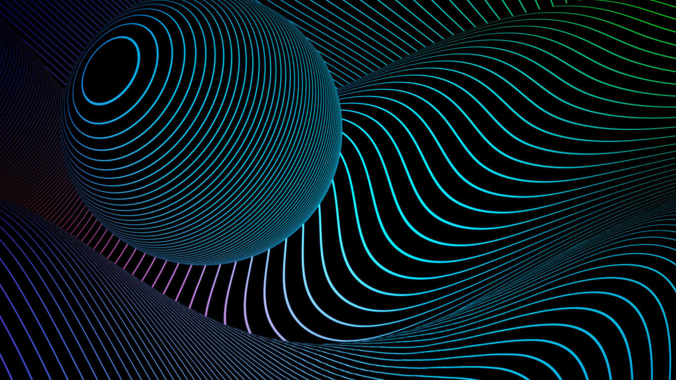 1366x768 3 Dimensional Sphere 4k 1366x768 Resolution