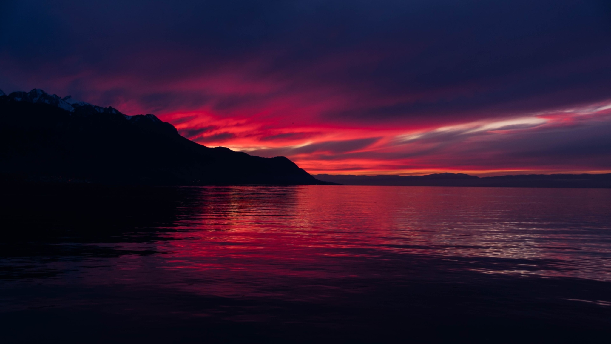 2048x1152 4k Dark Sunset 2048x1152 Resolution Wallpaper Hd Nature 4k Wallpapers Images Photos And Background