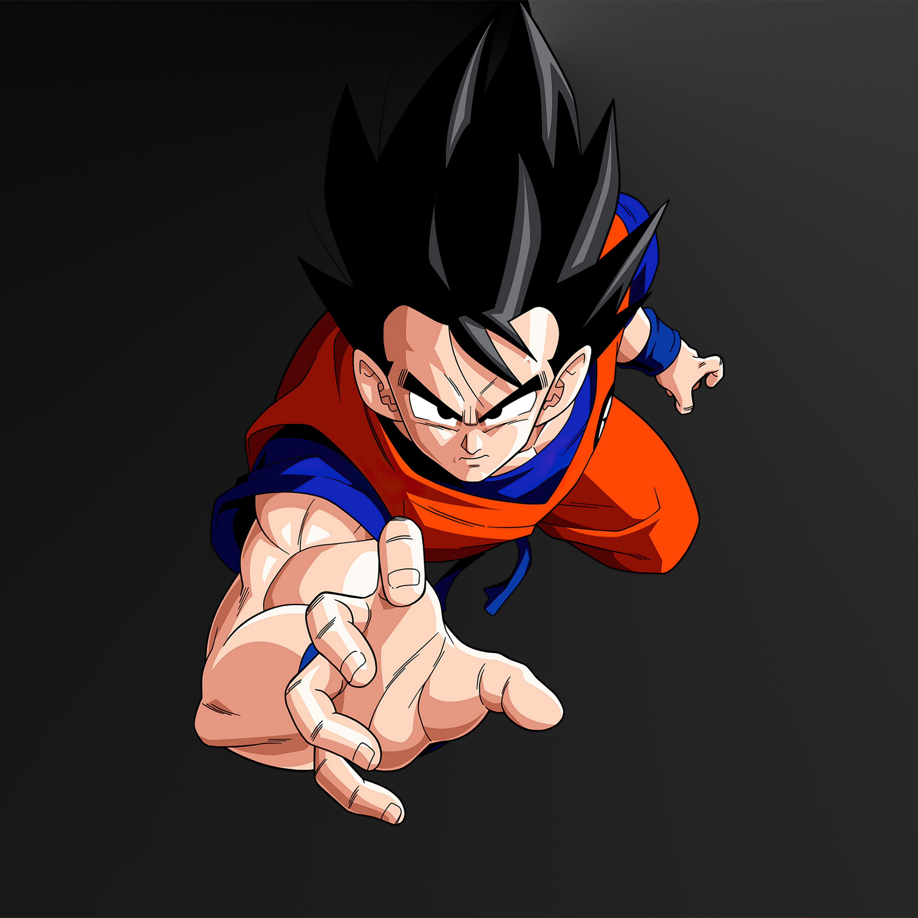 4K Goku Minimal Wallpaper in 2932x2932 Resolution