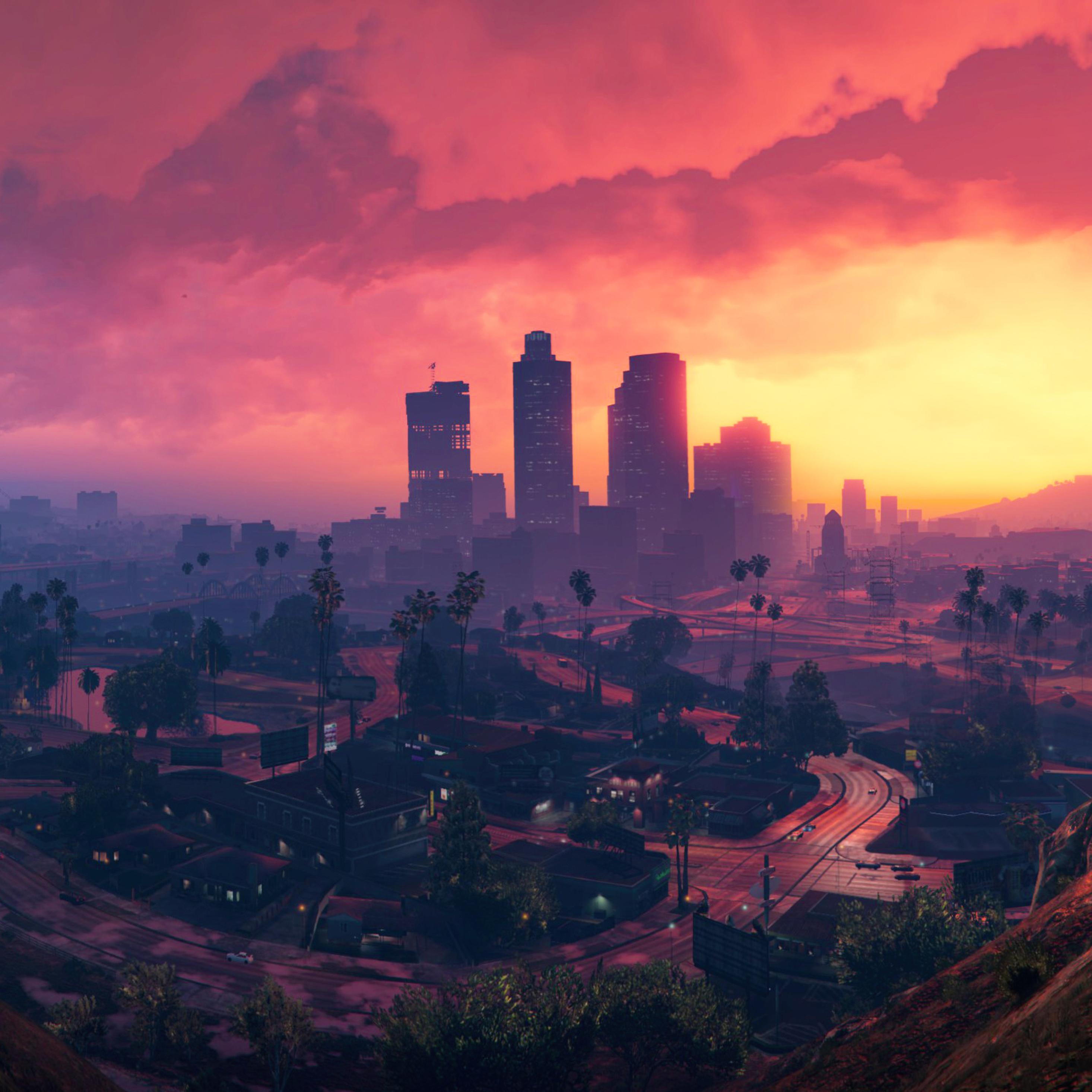 2932x2932 4K Grand Theft Auto V Scenery Ipad Pro Retina