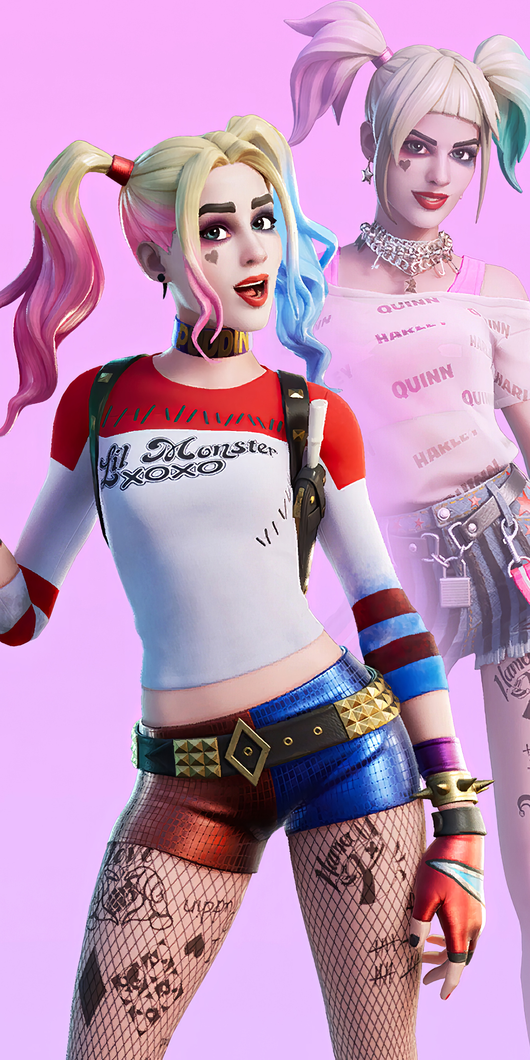 1080x2160 4k Harley Quinn Fortnite Skin Outfit One Plus 5t Honor 7x Honor View 10 Lg Q6 Wallpaper Hd Games 4k Wallpapers Images Photos And Background