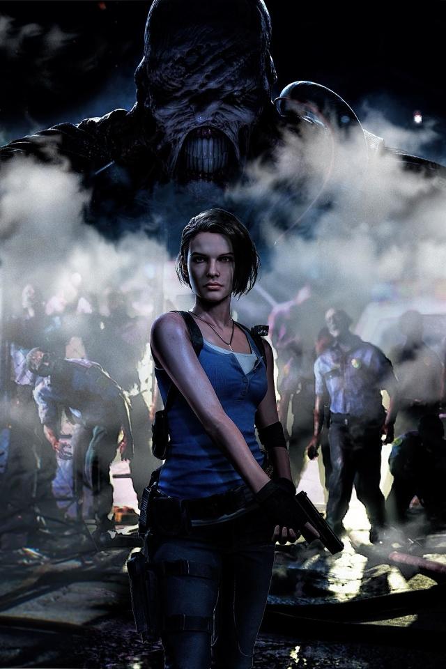 640x960 4k Jill Valentine Resident Evil 3 Iphone 4 Iphone