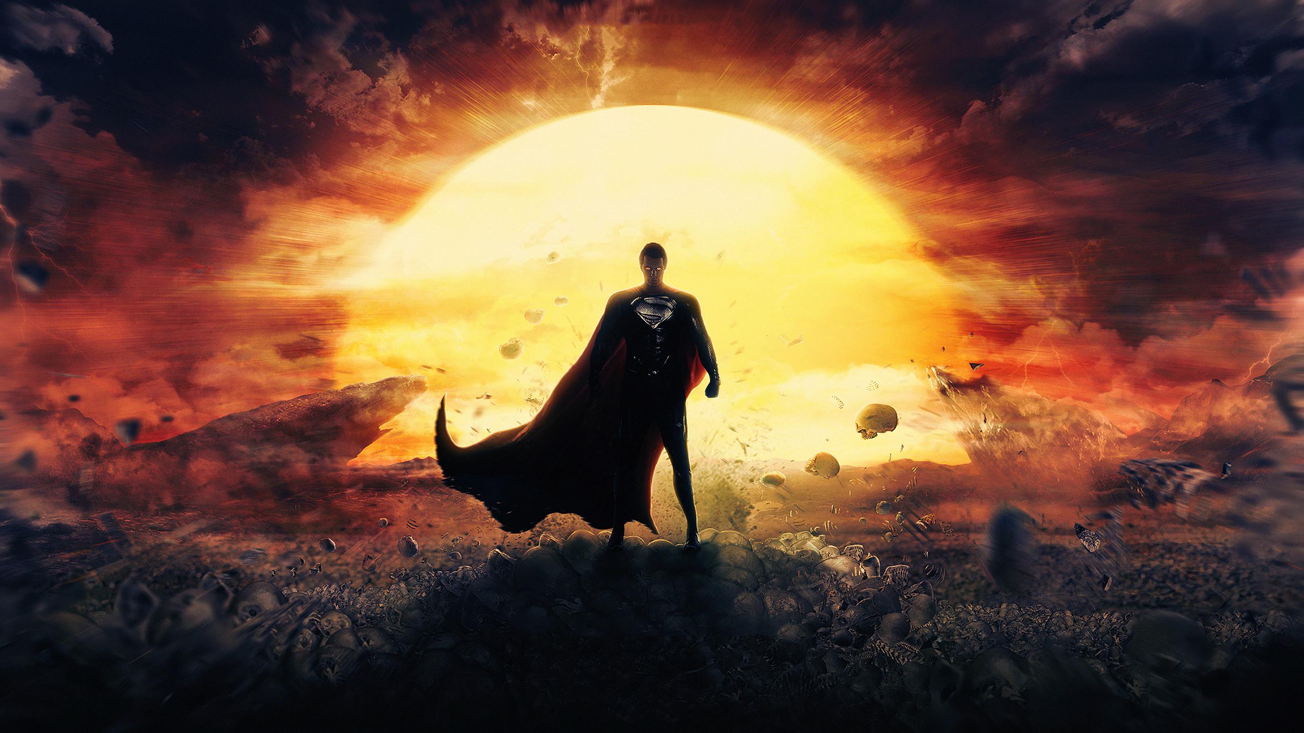 2560x1440 4K Man Of Steel Superman 1440P Resolution ...