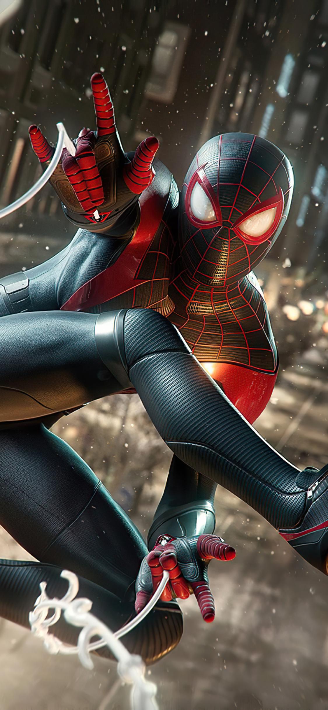 1125x2436 4K Marvels Spiderman Miles Morales 2020 Iphone ...