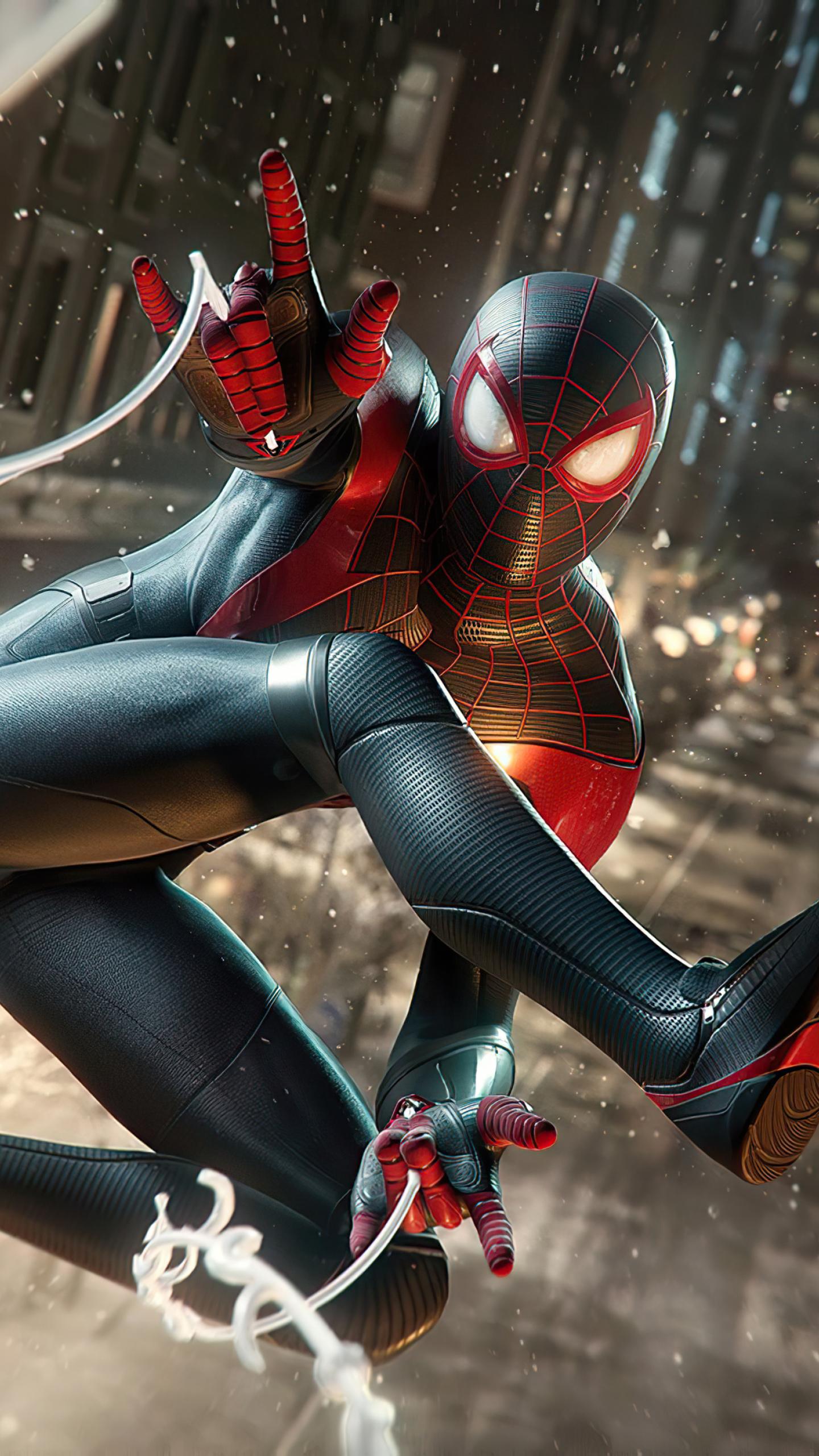 1440x2560 4K Marvels Spiderman Miles Morales 2020 Samsung ...