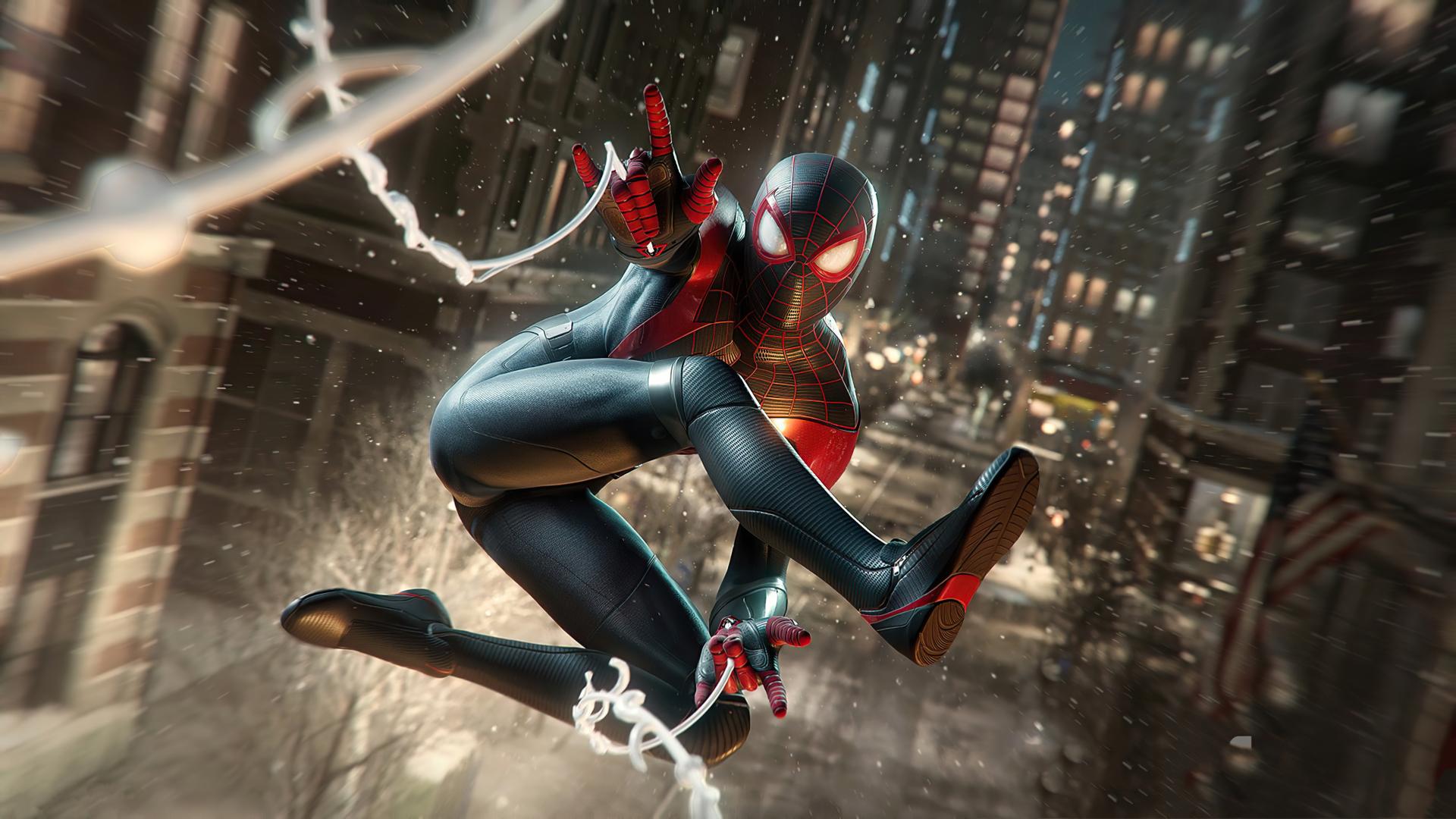 1920x1080 4K Marvels Spiderman Miles Morales 2020 1080P ...