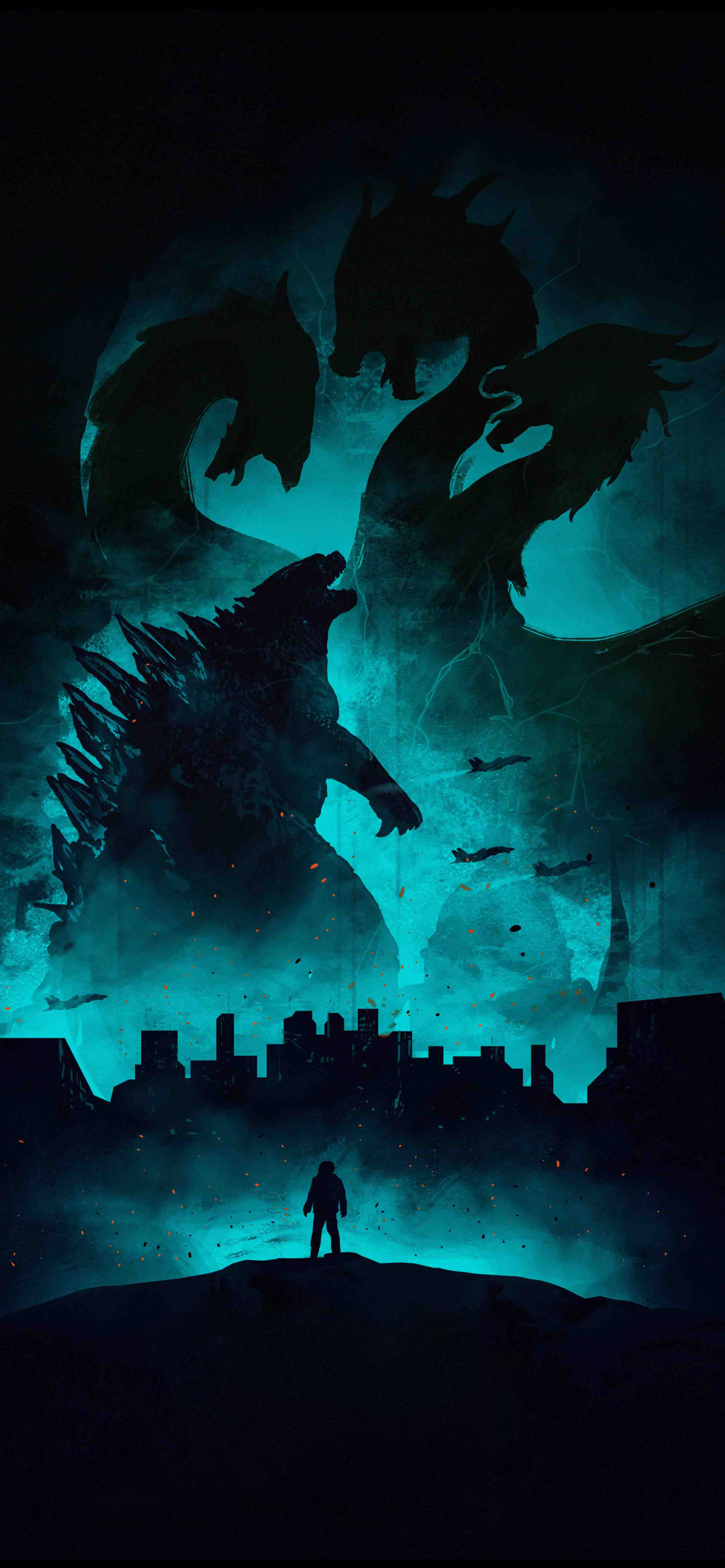 1242x2688 4k Poster Of Godzilla King Of The Monsters Iphone Xs Max