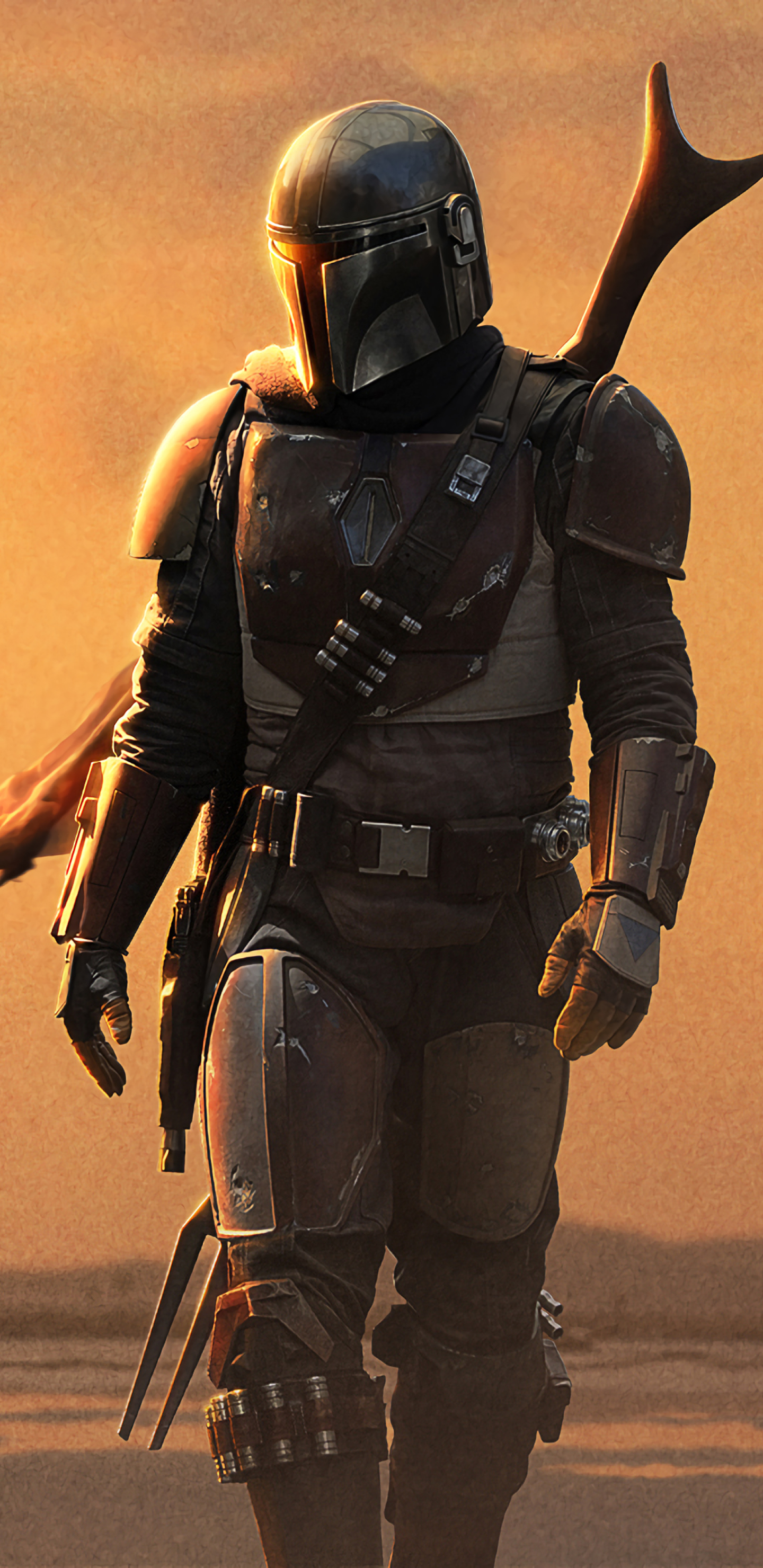 1440x2960 4k Poster Of The Mandalorian Samsung Galaxy Note ...