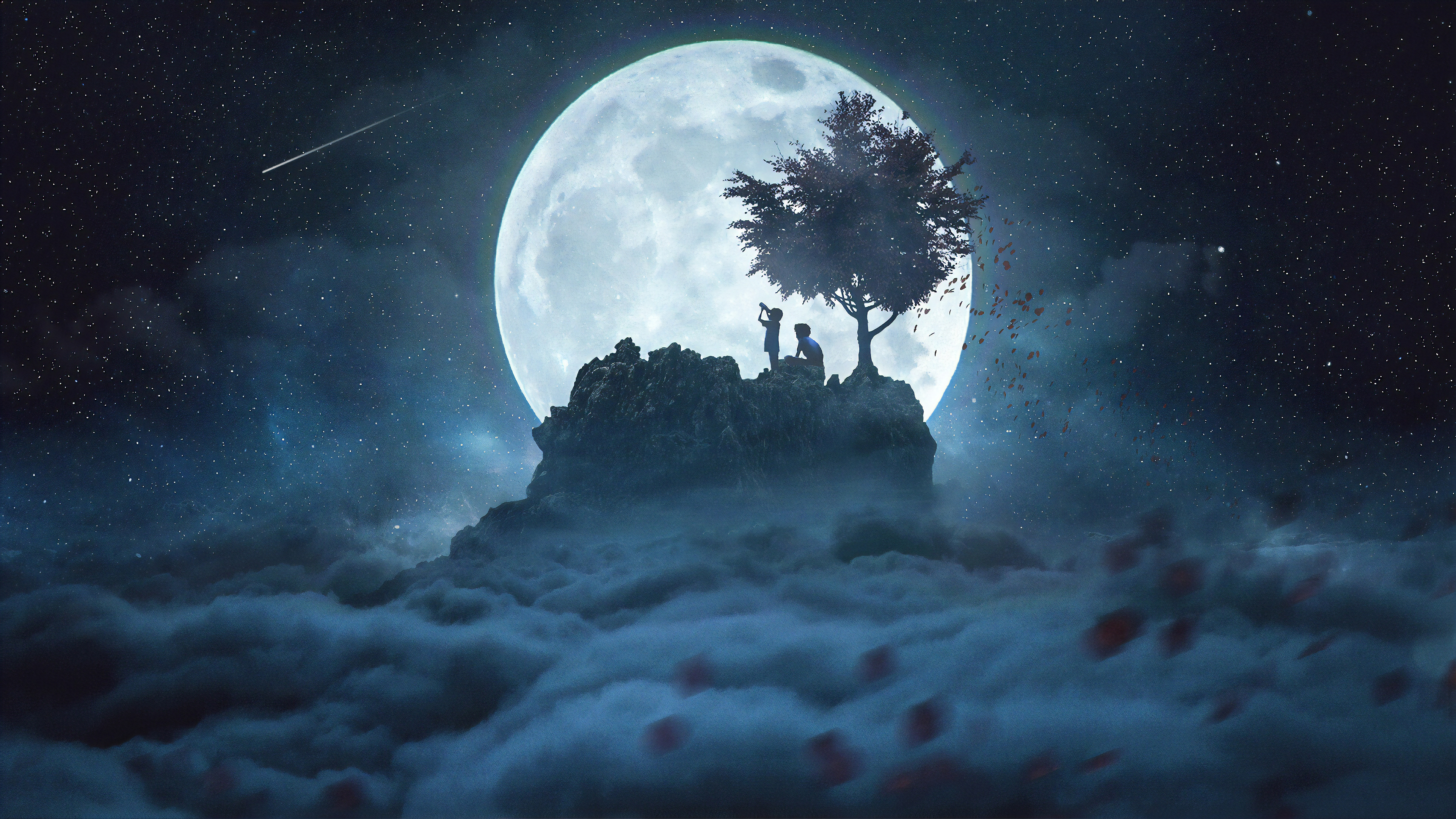 4k Talking To The Moon Wallpaper Hd Artist 4k Wallpapers Images Photos And Background