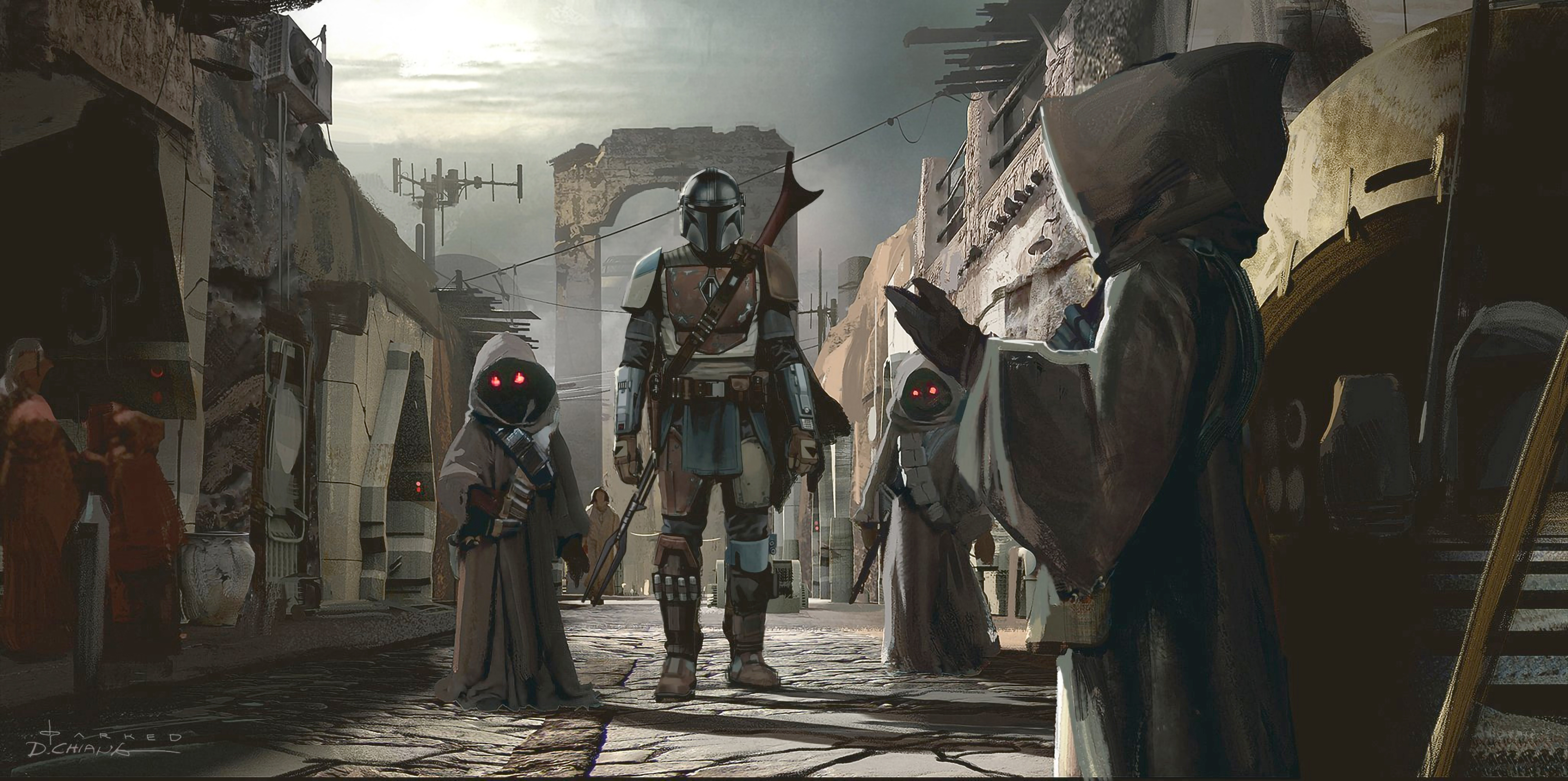 1920x1080 4k The Mandalorian Art 1080p Laptop Full Hd Wallpaper Hd Tv Series 4k Wallpapers Images Photos And Background