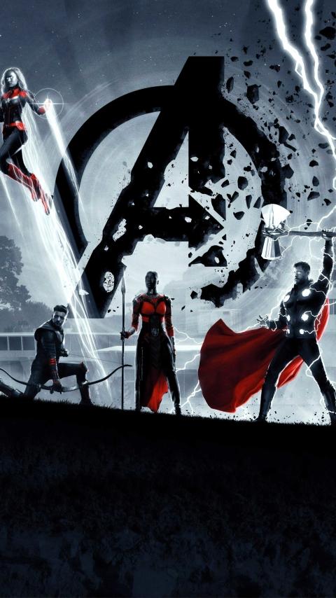 480x854 8K Avengers Endgame Poster Android One Mobile ...