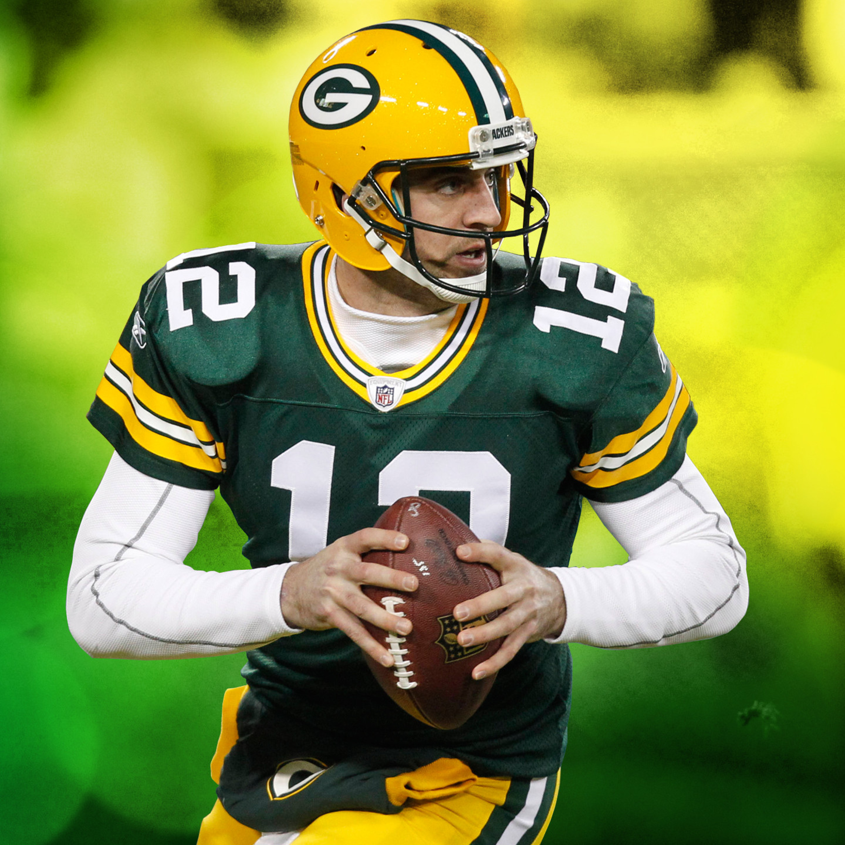 2932x2932 Aaron Rodgers Green Bay Packers Green Bay Ipad Pro