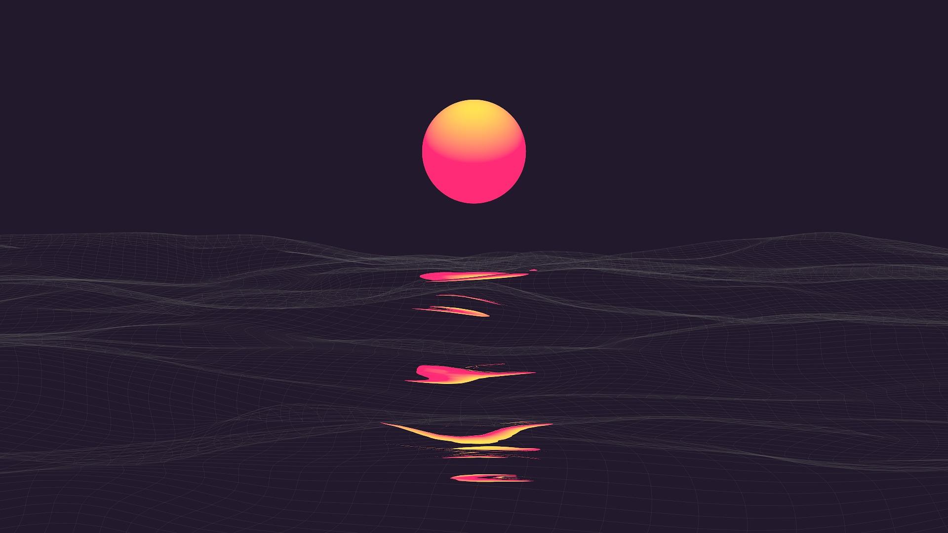 Abstract Vaporwave Retrowave Sun Reflaction Wallpaper, HD ...