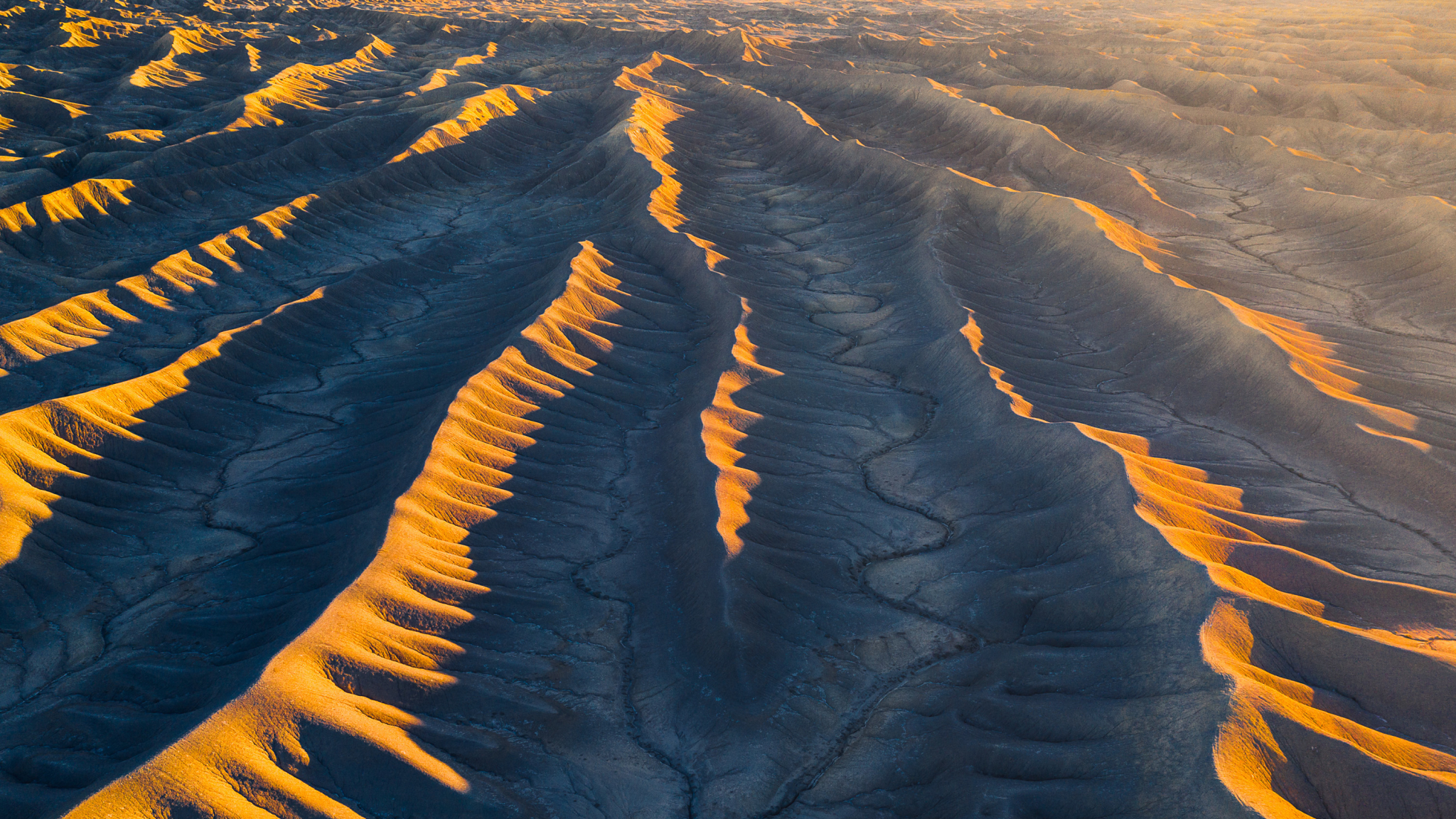 Aerial View From Utah Desert Wallpaper in 2048x1152 Resolution