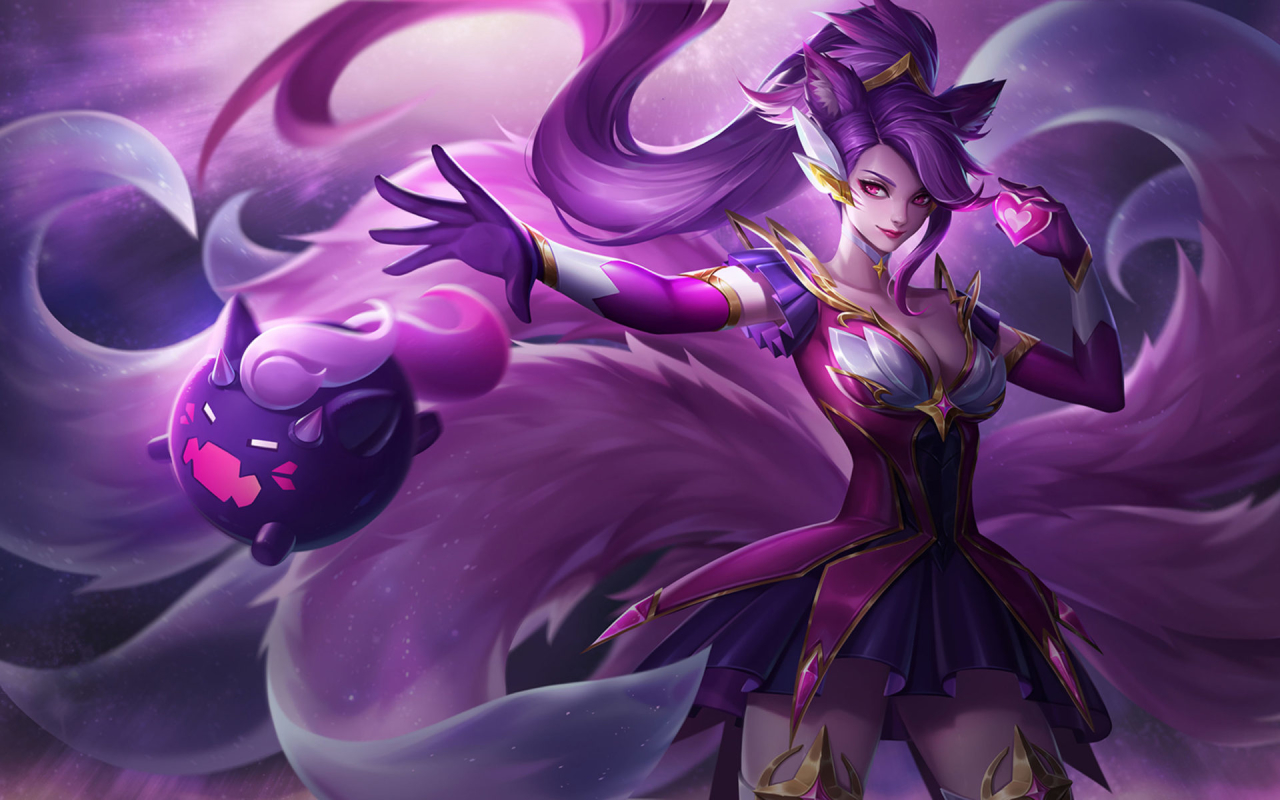 1280x800 Ahri From League Of Legends 1280x800 Resolution Wallpaper