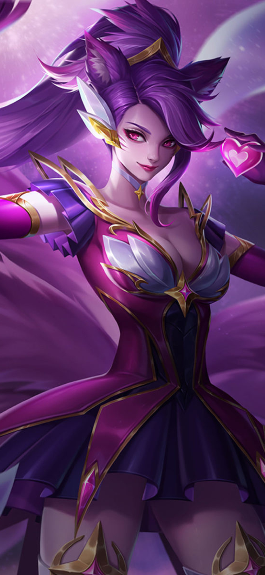 1125x2436 Ahri From League Of Legends Iphone Xs Iphone 10 Iphone X
