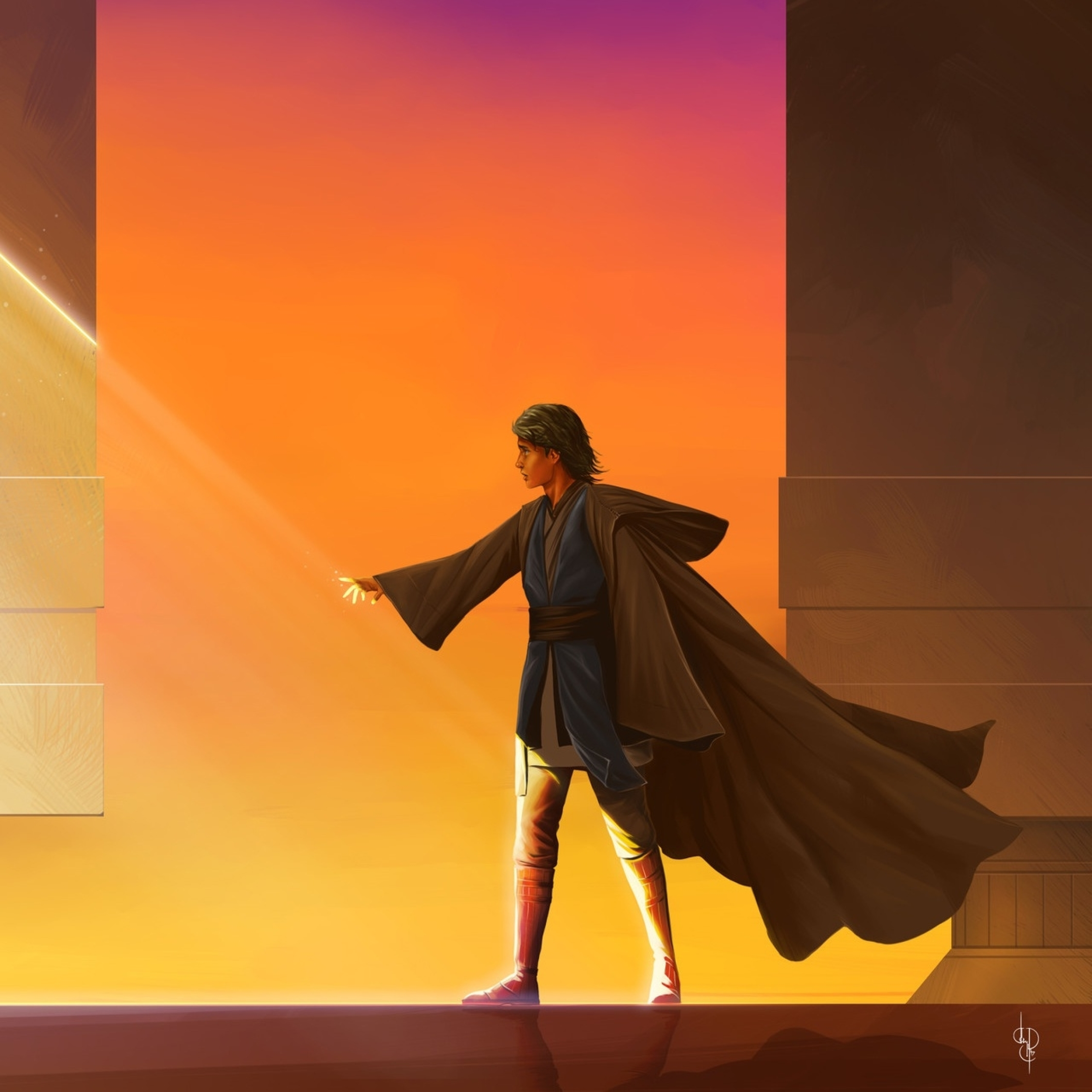 2248x2248 Ahsoka Tano and Anakin Skywalker Art 2248x2248