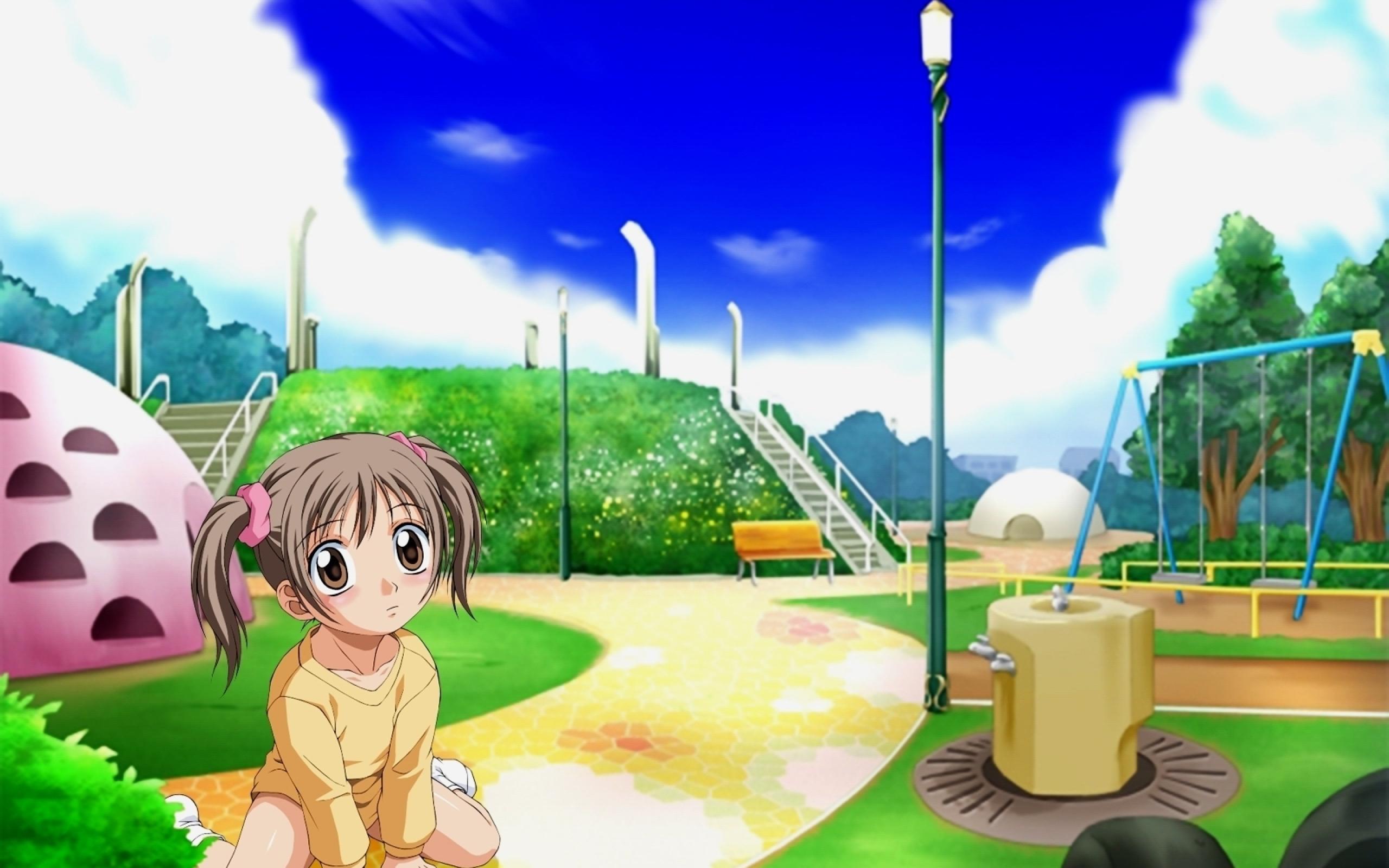 Animax Cartoon Wallpaper 2560x1600 aishiteruze baby, girl, playground 2560x1600