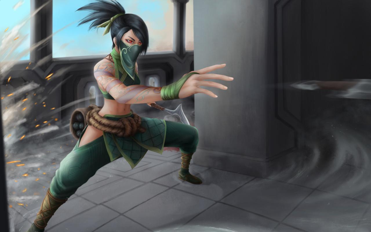 Akali from League Of Legends Wallpaper in 1280x800 Resolution