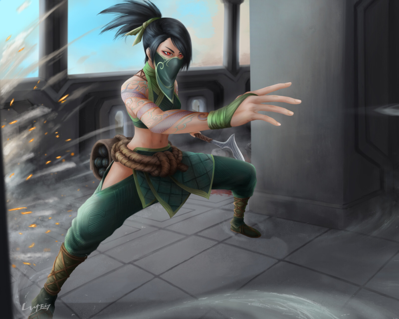 Akali from League Of Legends Wallpaper in 1280x1024 Resolution
