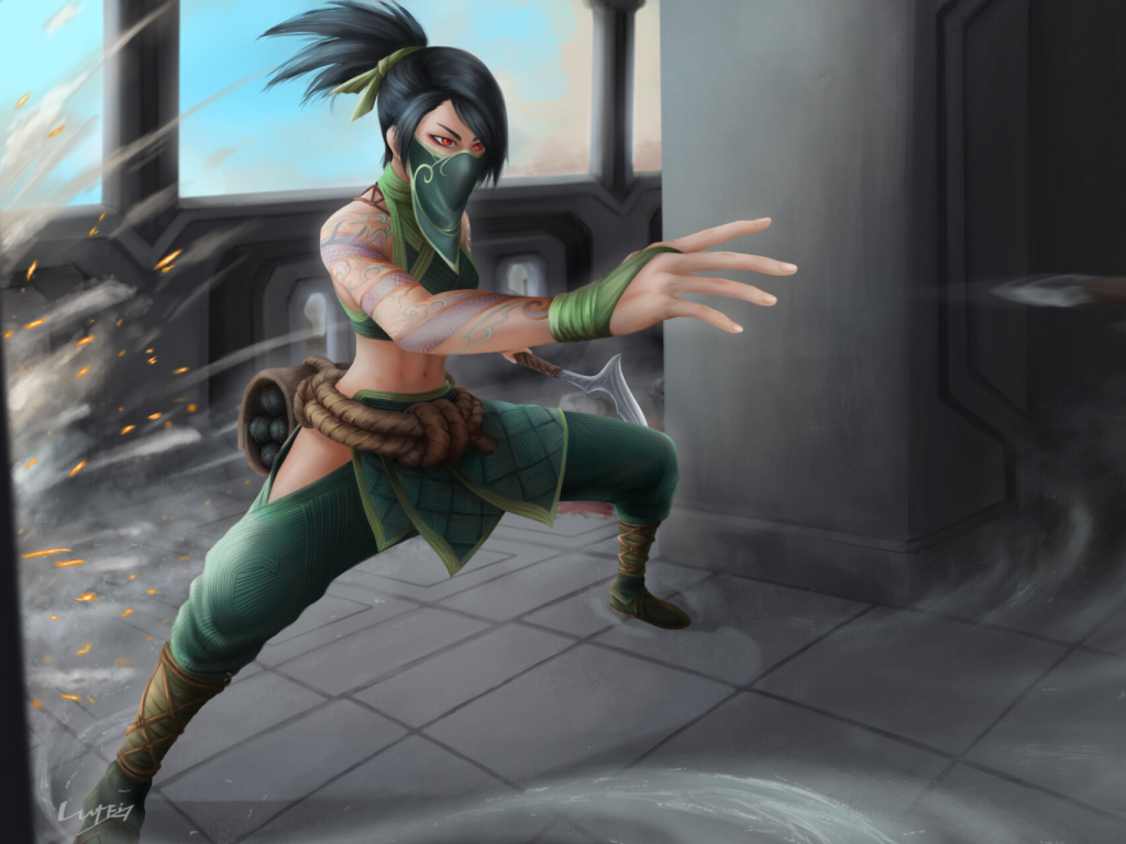 Akali from League Of Legends Wallpaper in 1024x768 Resolution