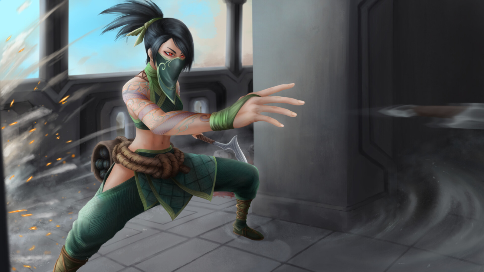 Akali from League Of Legends Wallpaper in 1600x900 Resolution