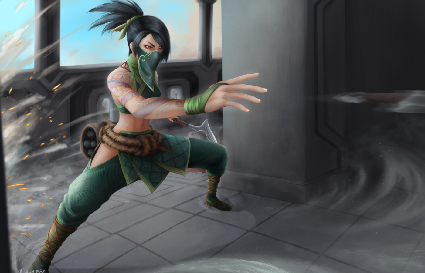 Akali from League Of Legends Wallpaper in 1400x900 Resolution