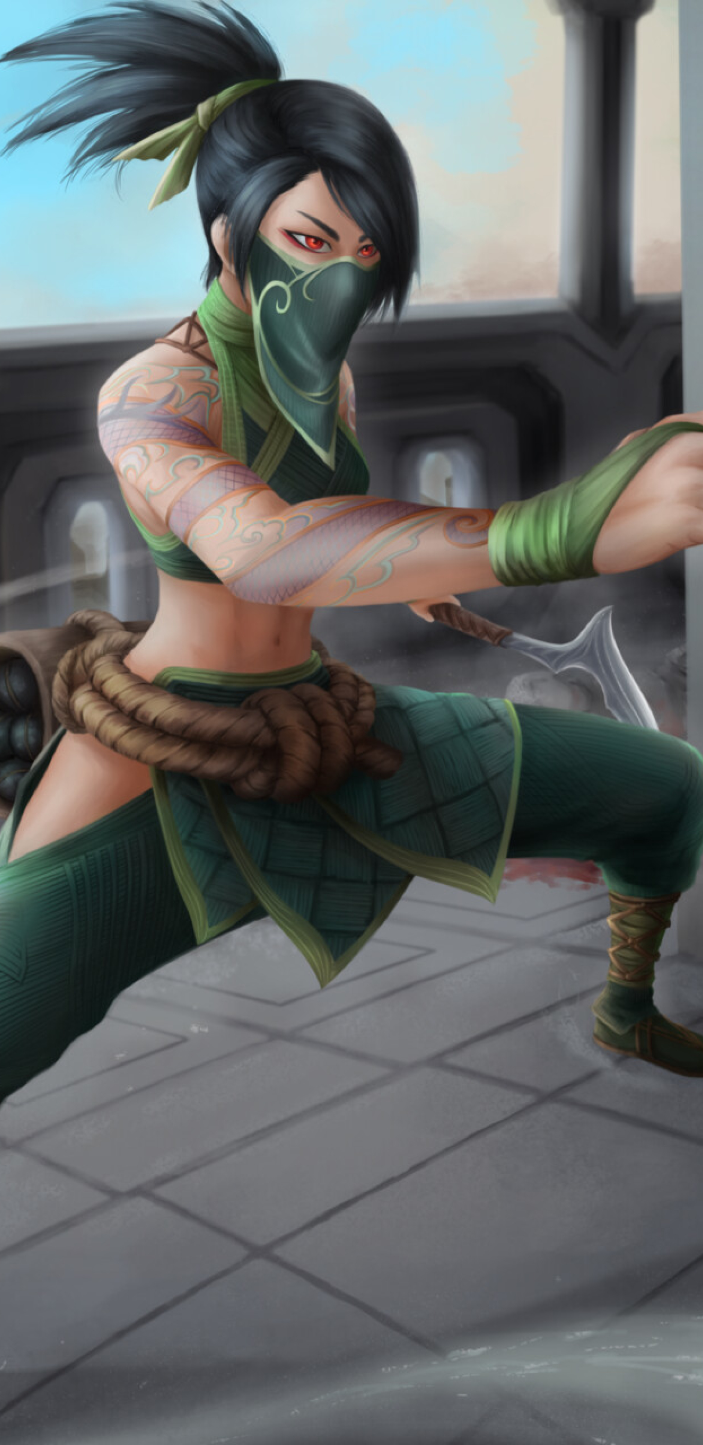 Akali from League Of Legends Wallpaper in 1440x2960 Resolution