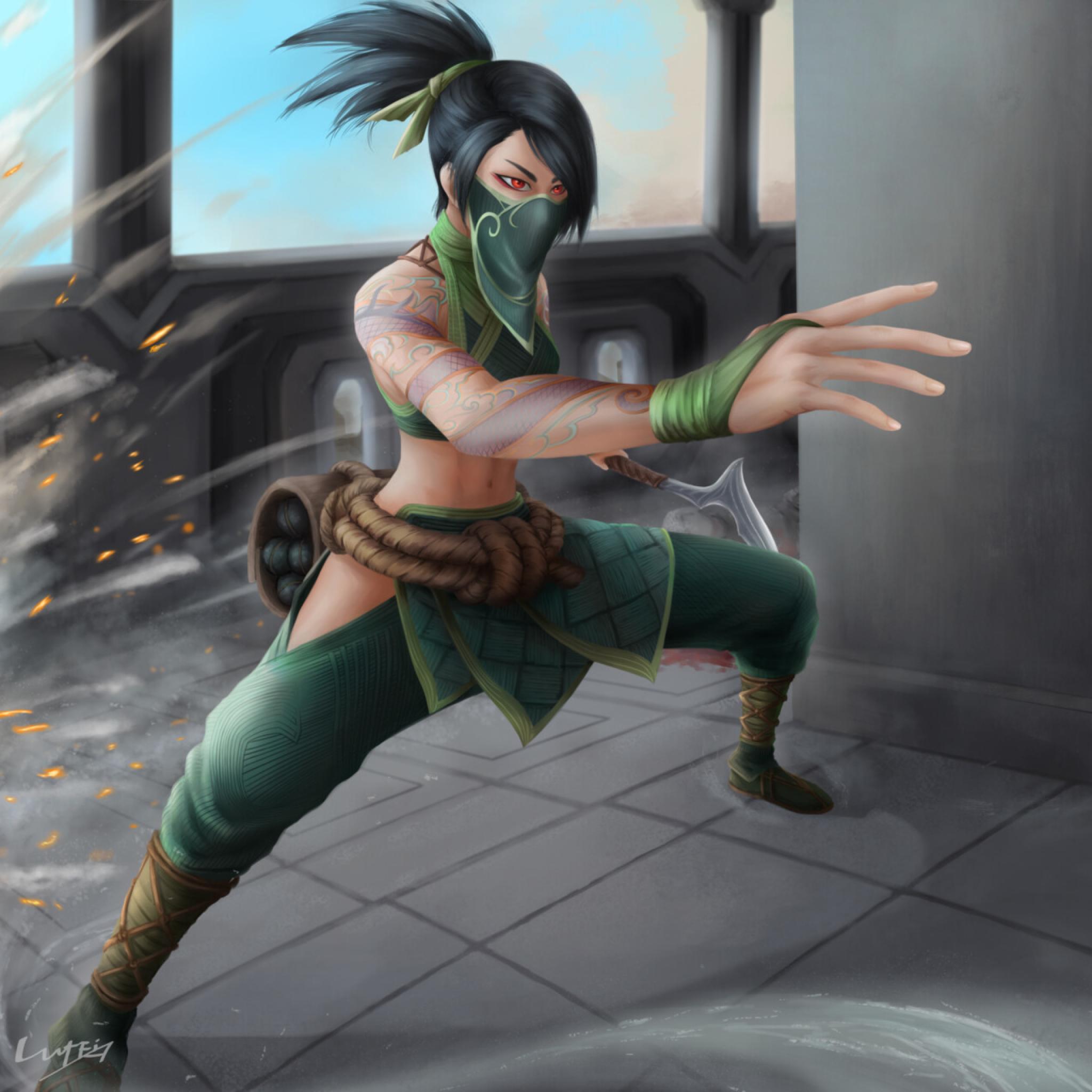Akali from League Of Legends Wallpaper in 2048x2048 Resolution