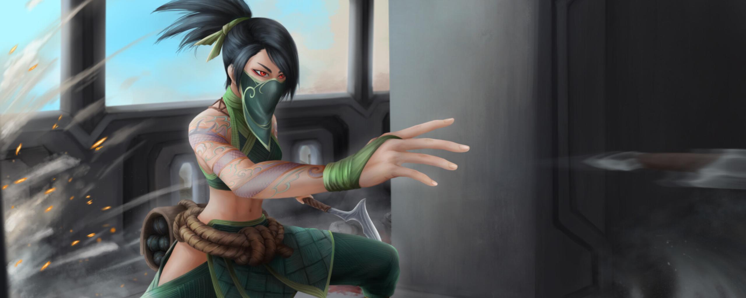 Akali from League Of Legends Wallpaper in 2560x1024 Resolution