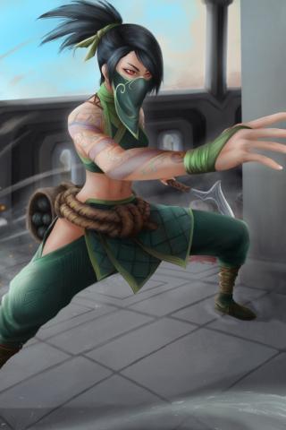 Akali from League Of Legends Wallpaper in 320x480 Resolution
