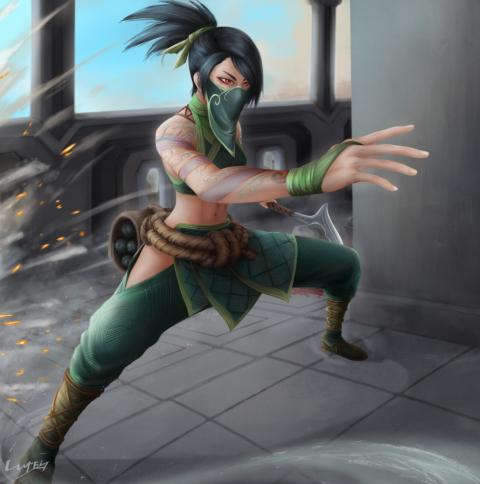 Akali from League Of Legends Wallpaper in 480x484 Resolution