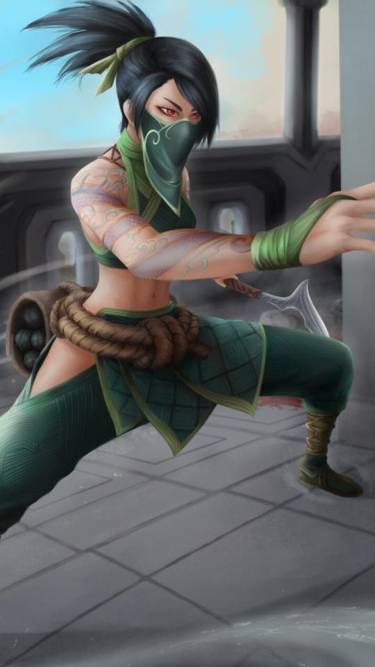Akali from League Of Legends Wallpaper in 540x960 Resolution