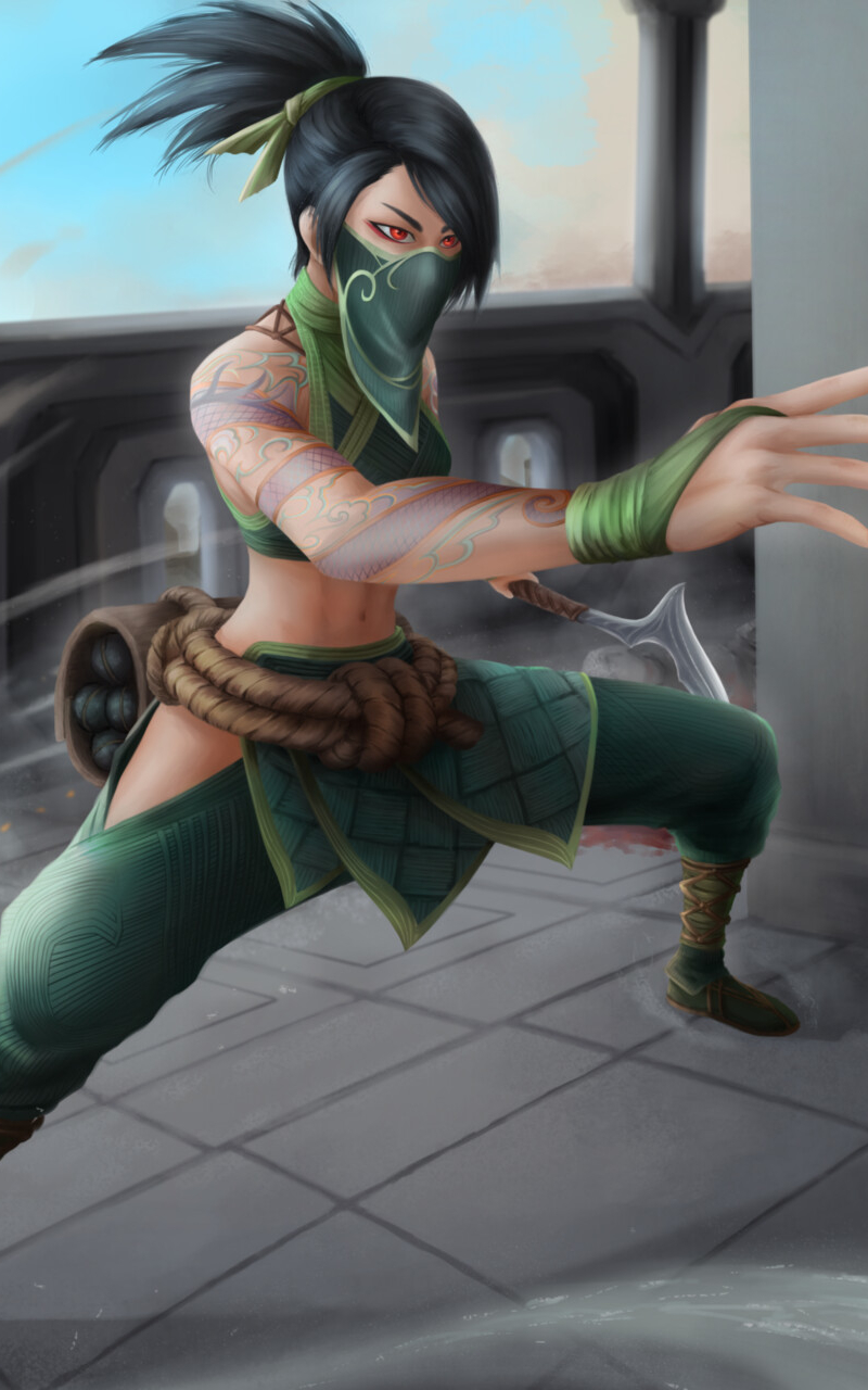 Akali from League Of Legends Wallpaper in 800x1280 Resolution
