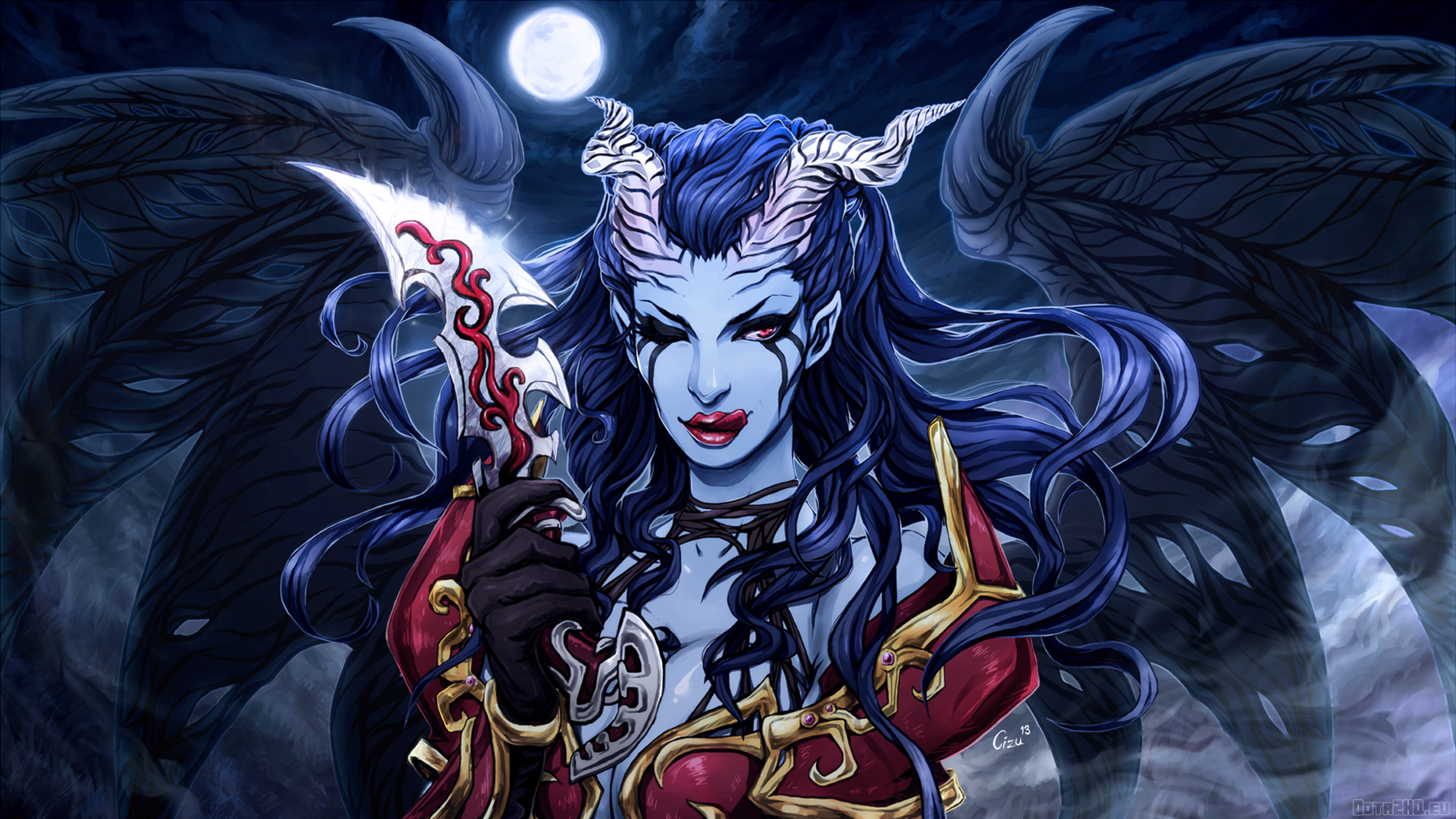 3840x2160 Akasha Queen Of Pain Dota 2 4k Wallpaper Hd Games 4k