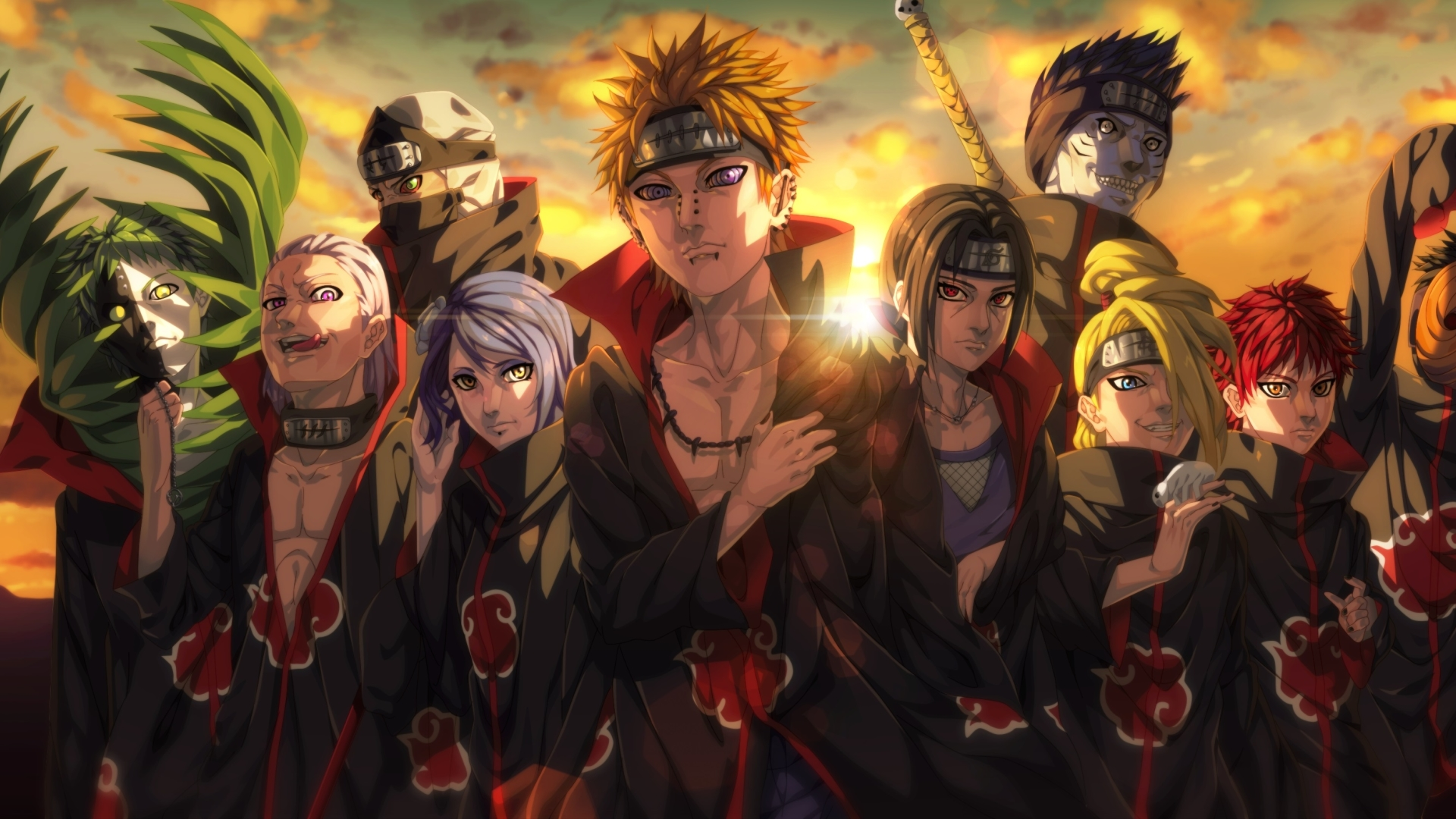 1920x1080 Akatsuki Organization Anime 1080p Laptop Full Hd