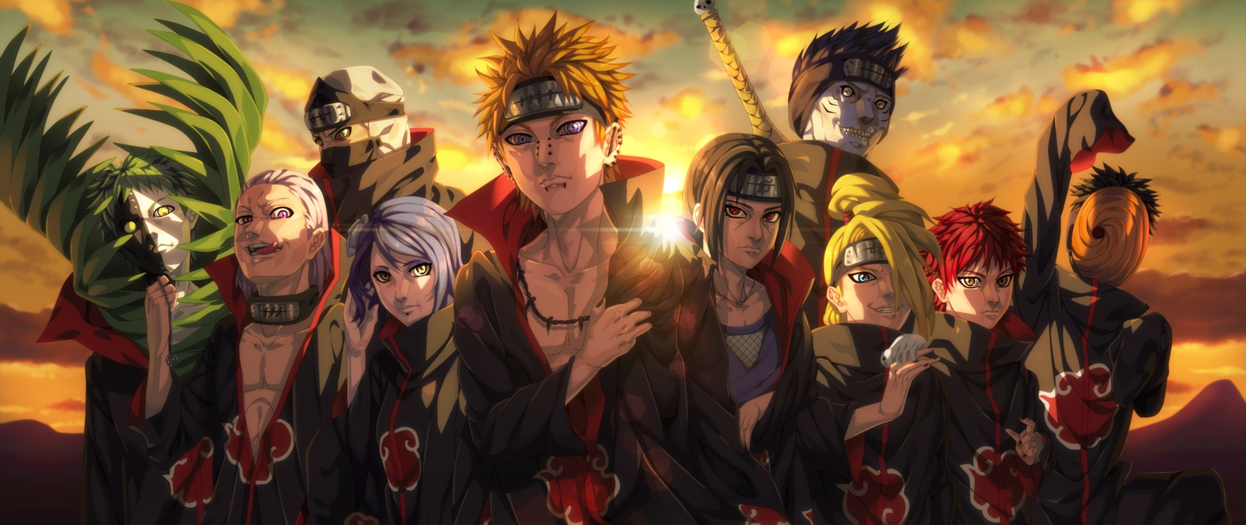 2560x1080 Akatsuki Organization Anime 2560x1080 Resolution Wallpaper Hd Anime 4k Wallpapers Images Photos And Background