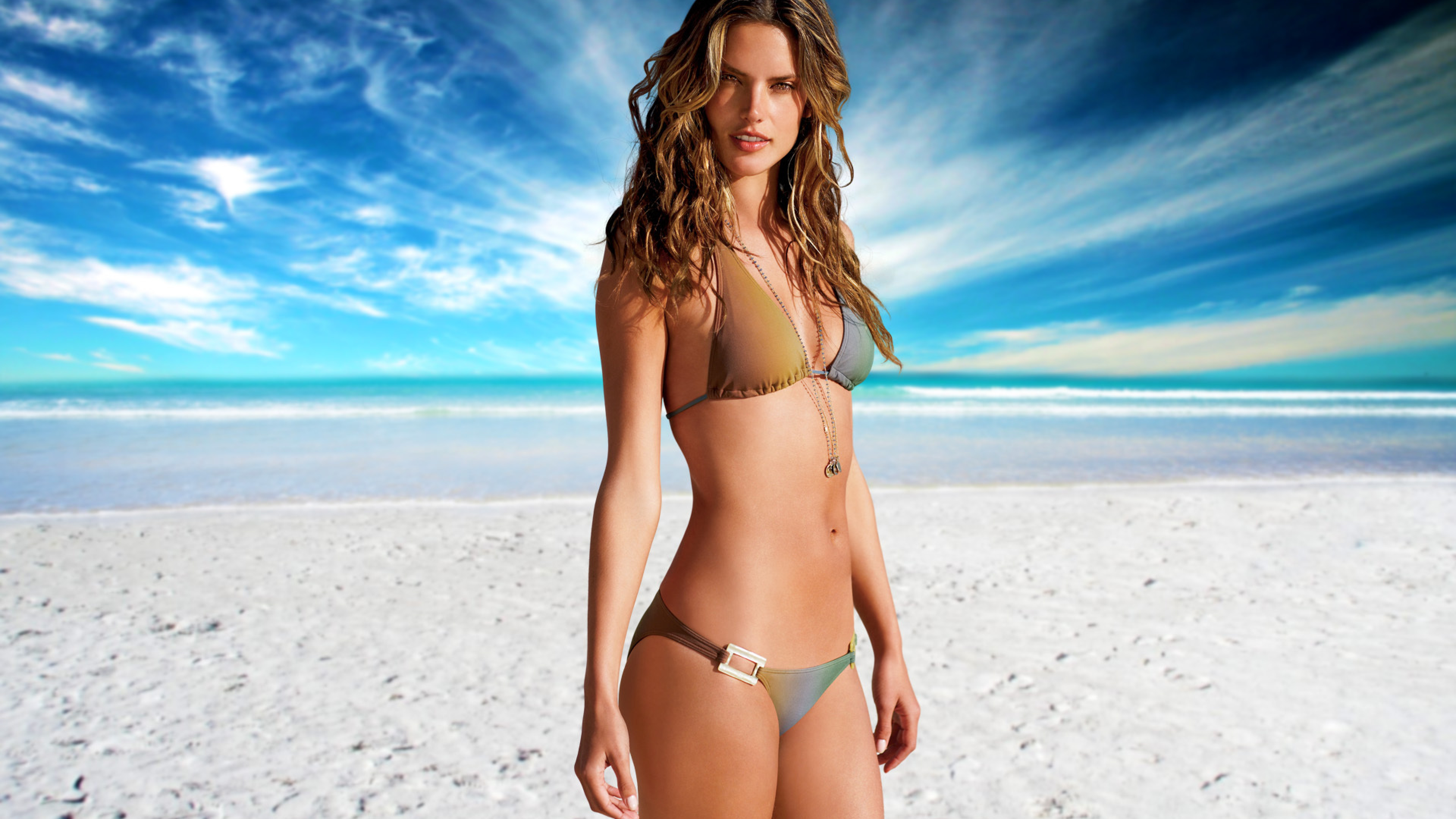 Alessandra ambrosio fit body bikini photoshoot full hd - Hd bikini wallpaper download ...