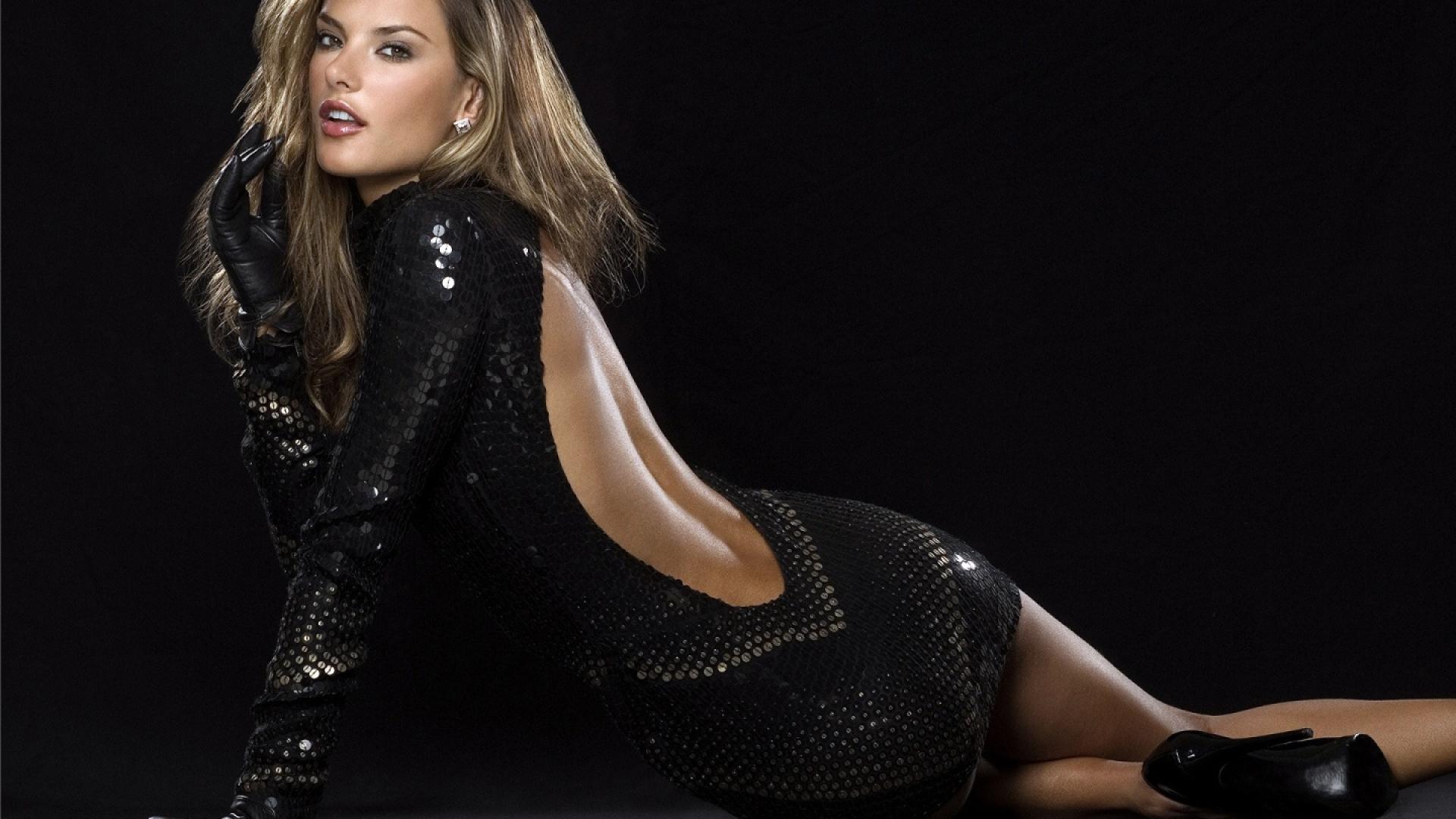 1920x1080 alessandra ambrosio hot backless dress 1080p laptop full hd wallpaper hd celebrities - Hollywood actress full hd wallpaper ...