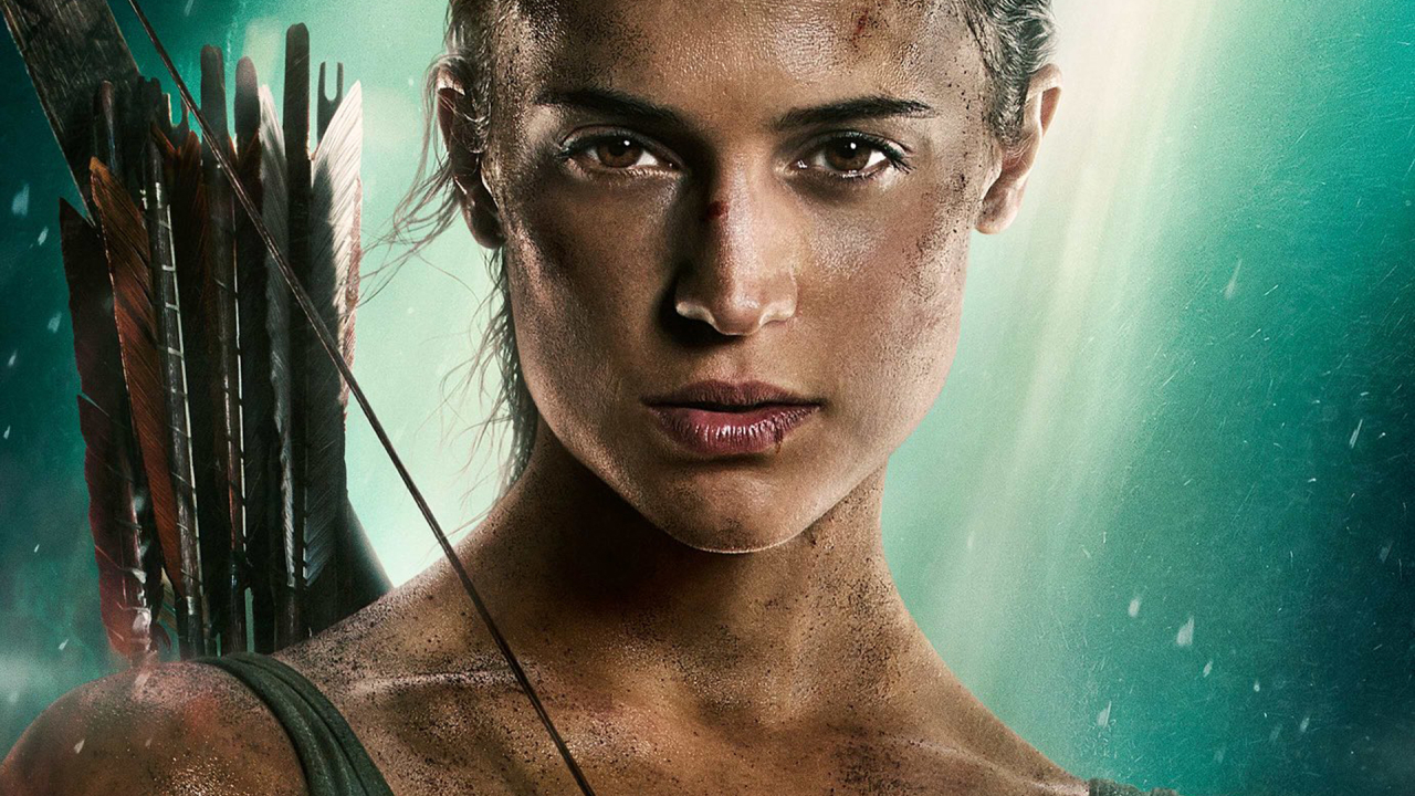1280x720 Alicia Vikander New Tomb Raider Poster 2018 720p