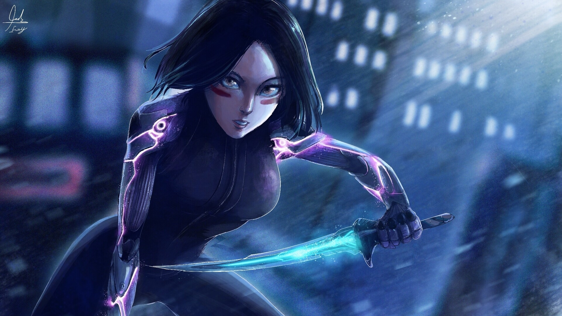 1920x1080 Alita Battle Angel Arts 1080p Laptop Full Hd Wallpaper Hd Movies 4k Wallpapers Images Photos And Background