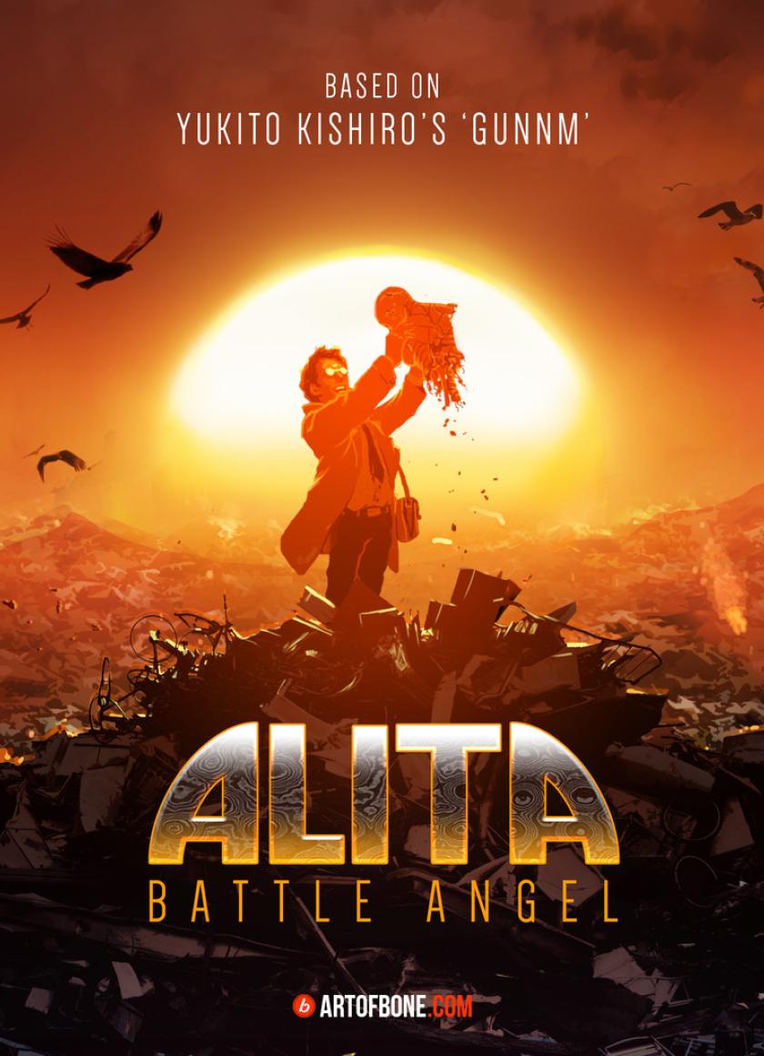 alita battle angel poster fanart full hd wallpaper