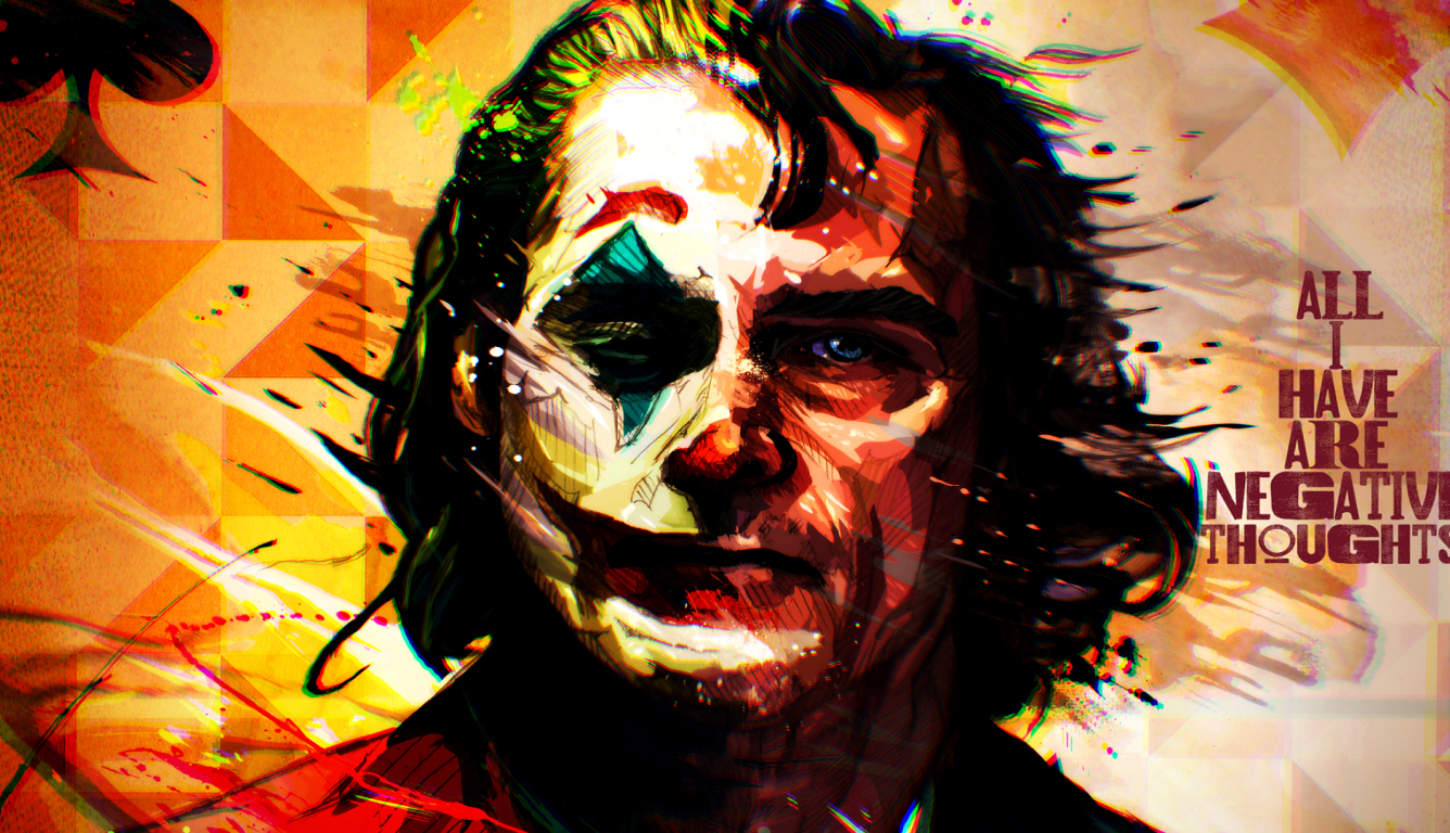 1336x768 All I Have Negative Thoughts Joker HD Laptop ...