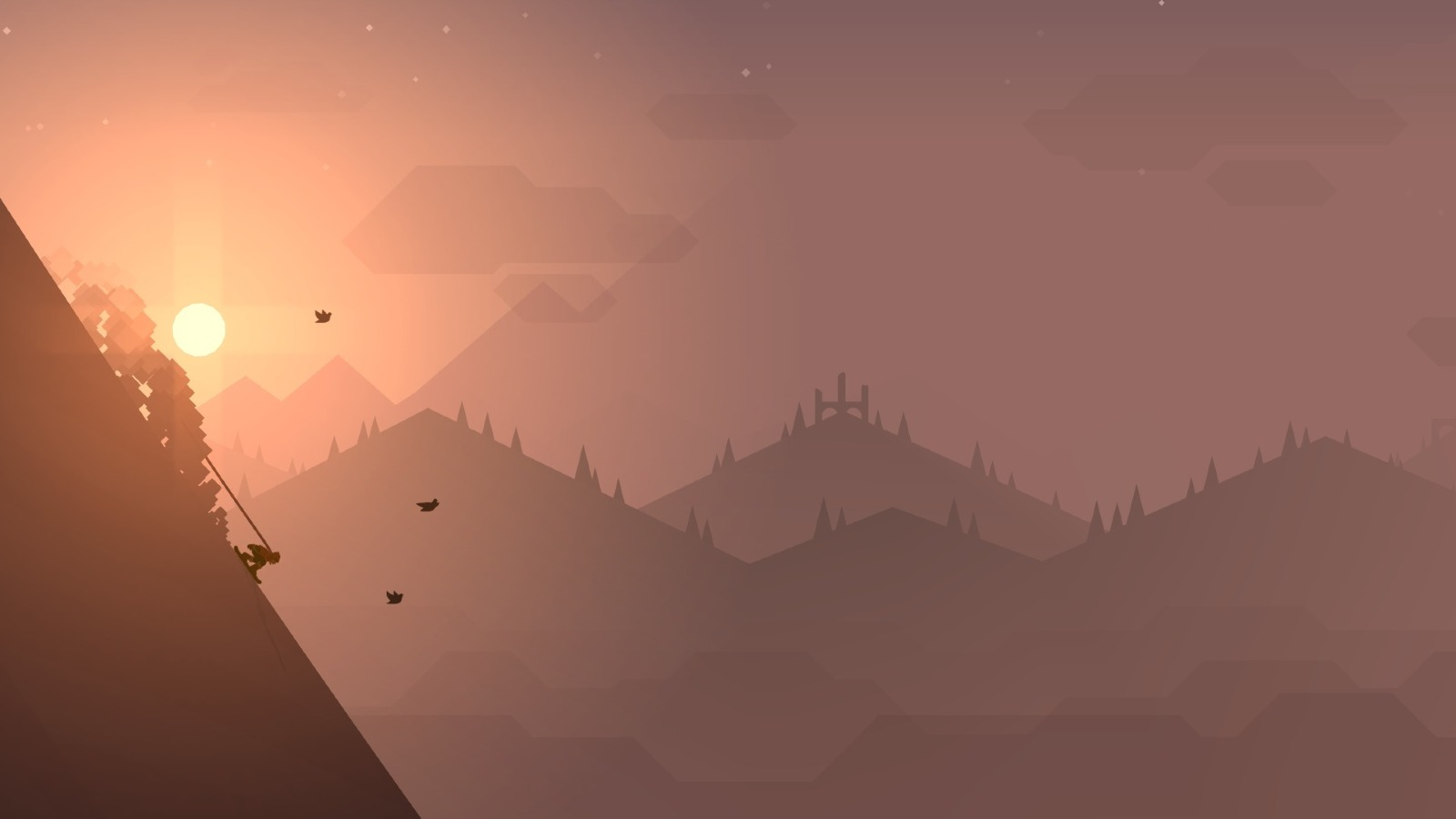 Altos Adventure Minimalist Mountain, Full HD Wallpaper