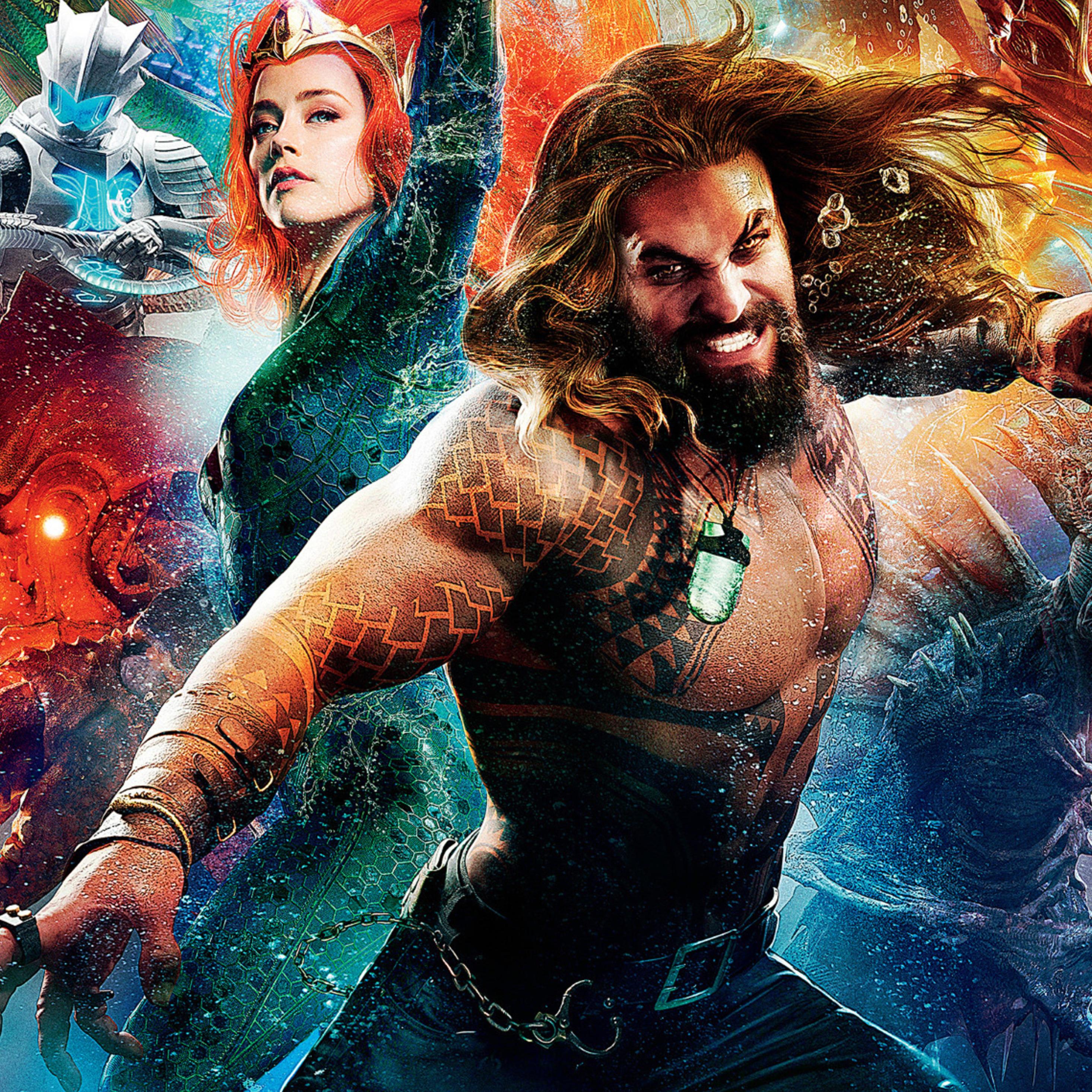 Aquaman Jason Momoa Mera Aquaman S Wifey Amber Heard: Amber Heard As Mera And Jason Momoa As Aquaman, HD 4K